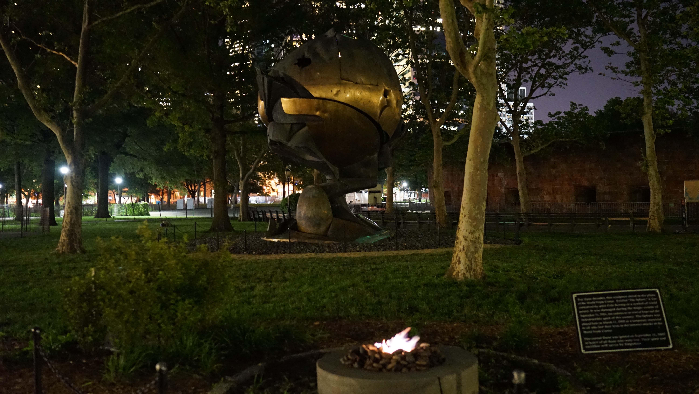 WTC sphere night