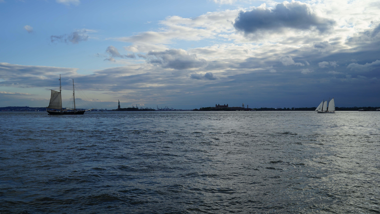 sailboats new york harbor sunset 6-28-2015