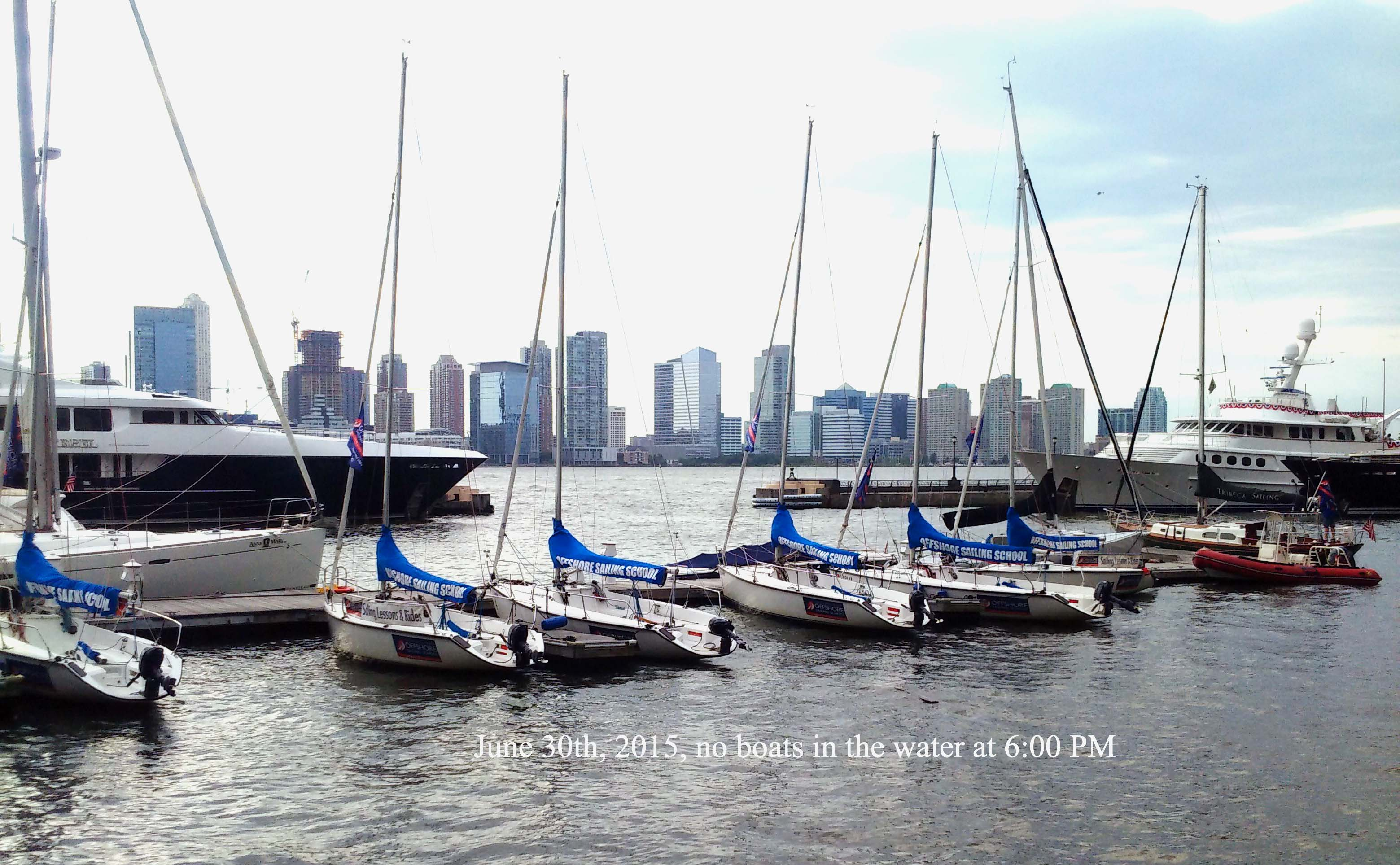 Offshore sailing school no activity