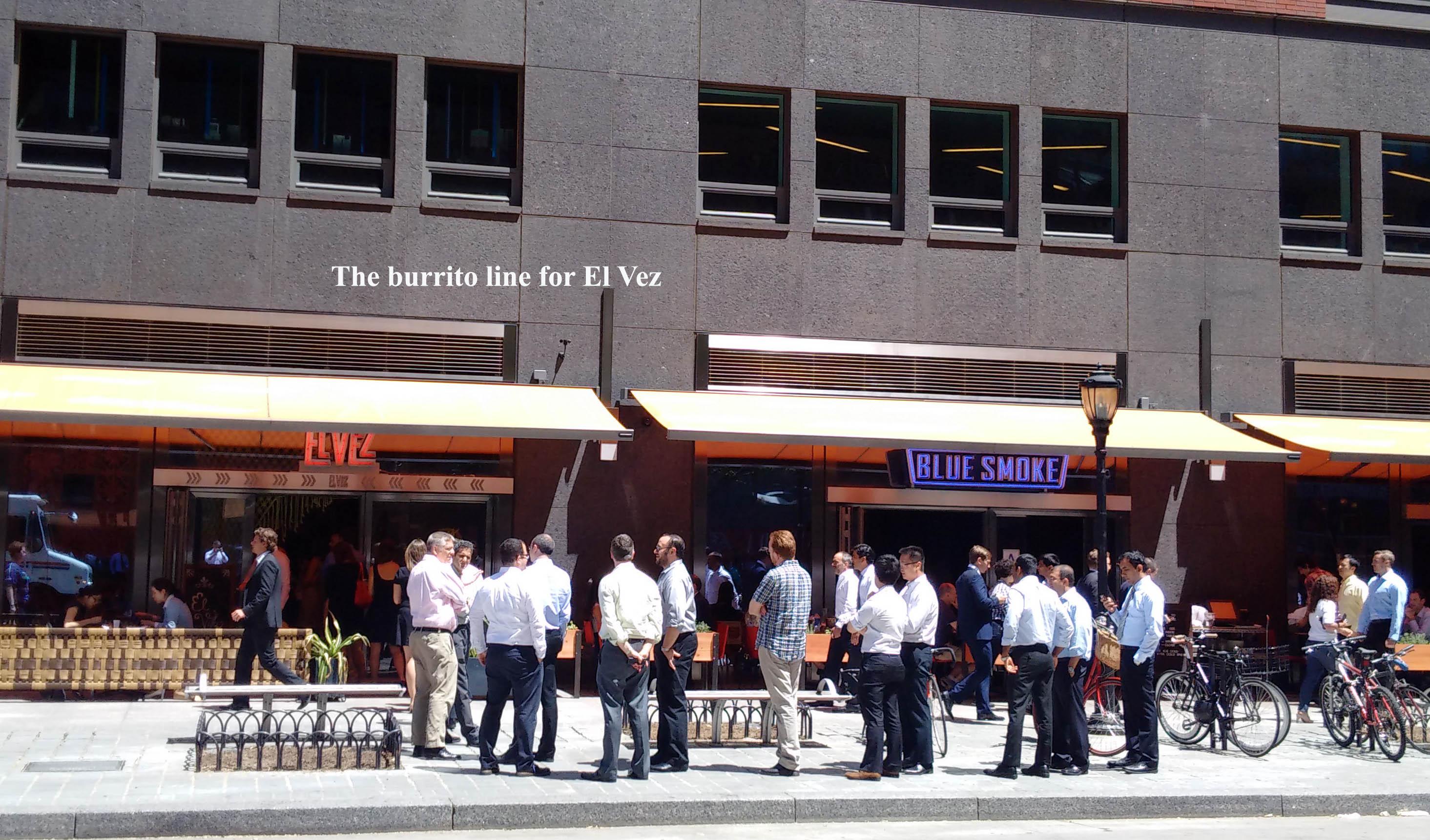 burrito line for el vez