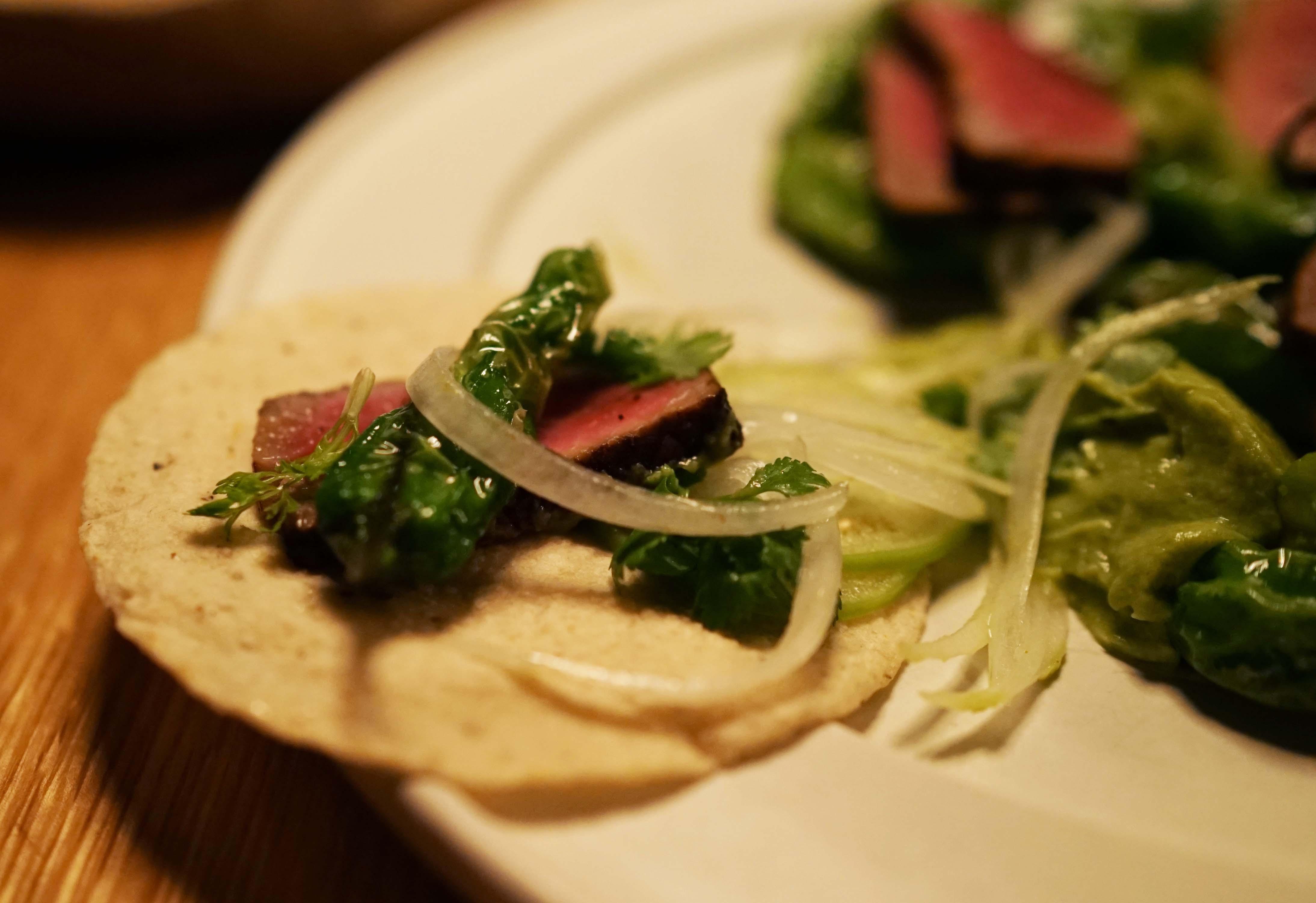 Cosme steak taco