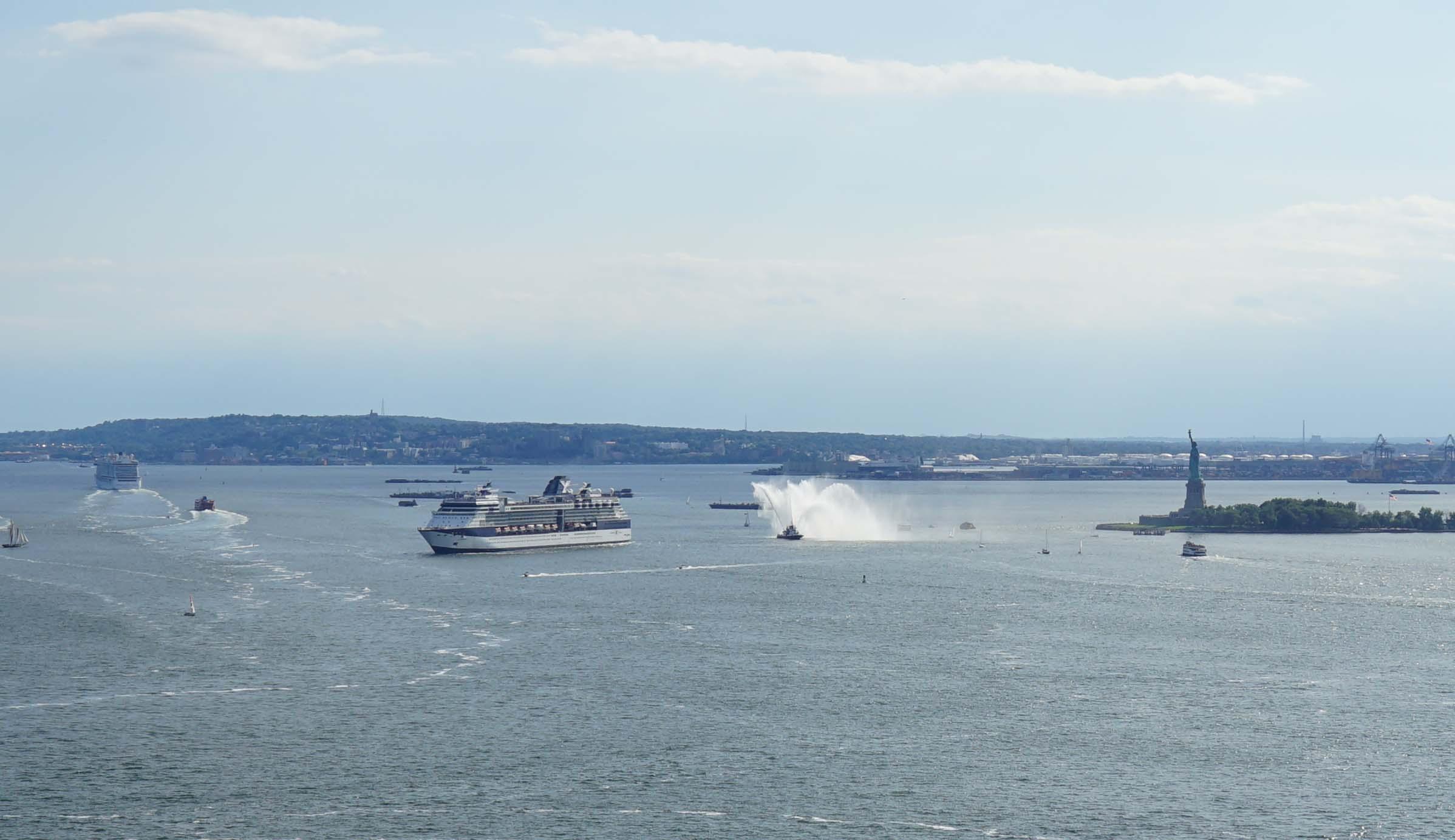 fire boat cruise ship