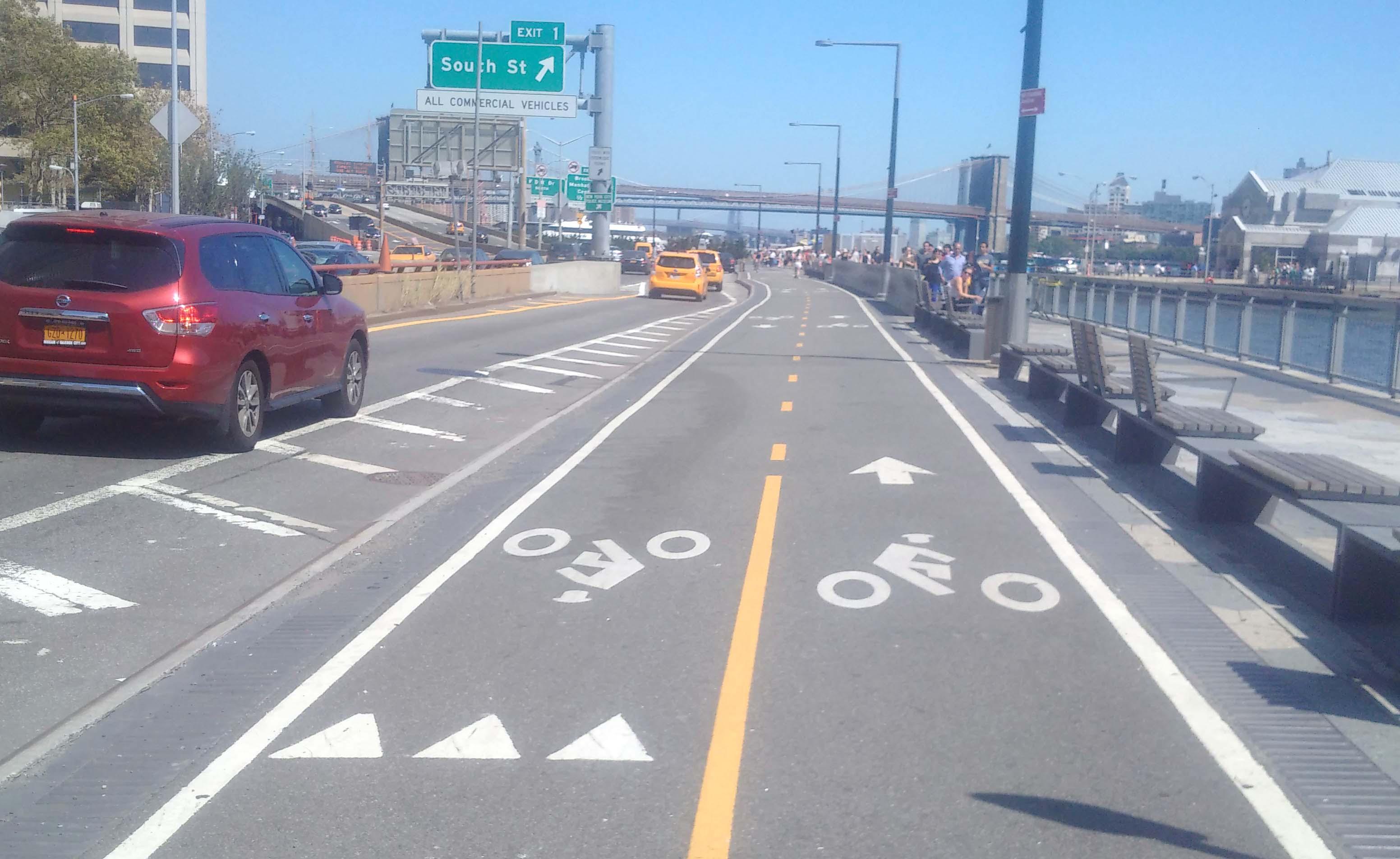 Bike path seaport
