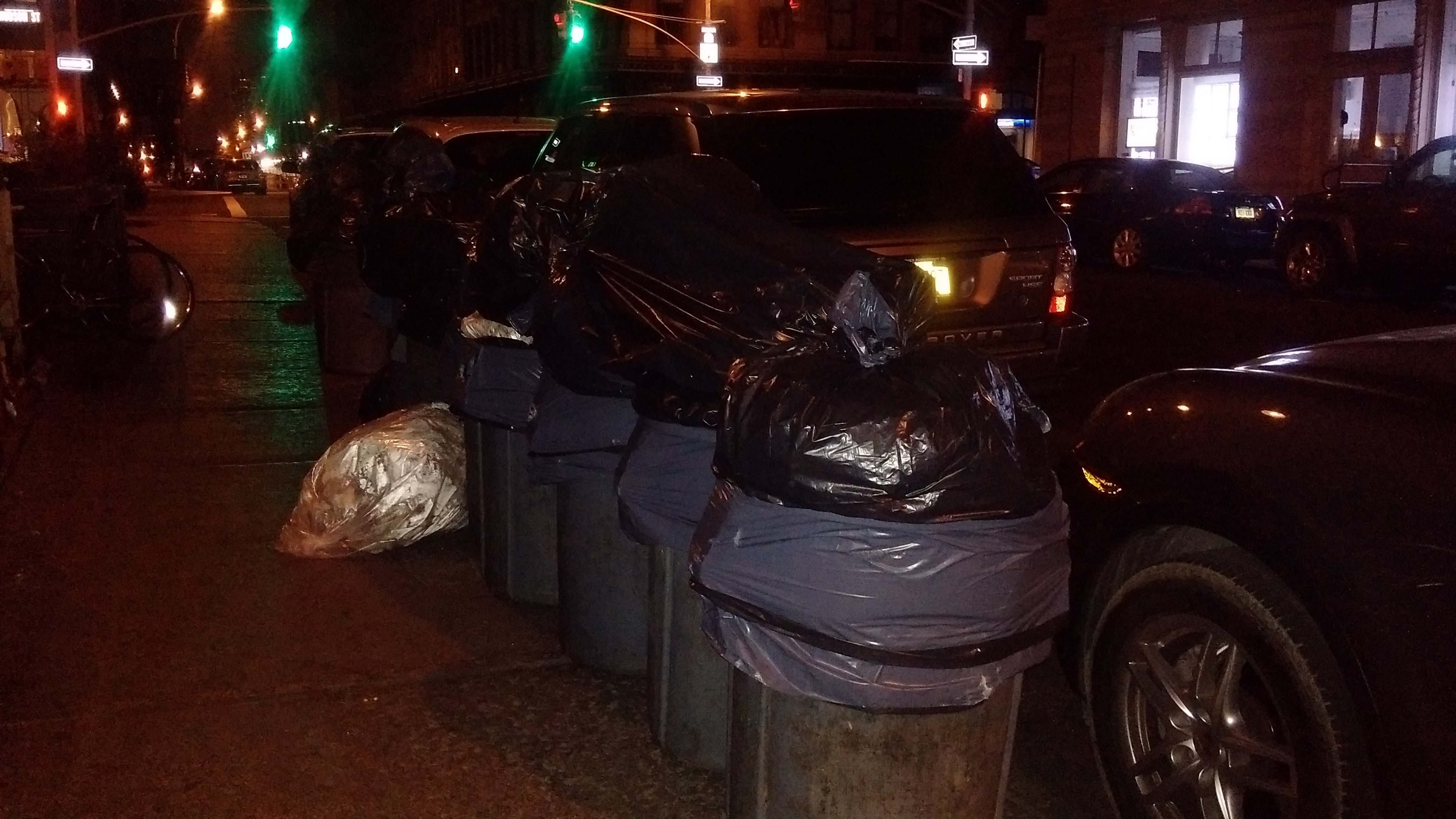 Bubbys trash cans properly elevated
