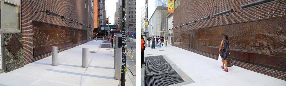 Greenwich street sidewalk by WTC 4