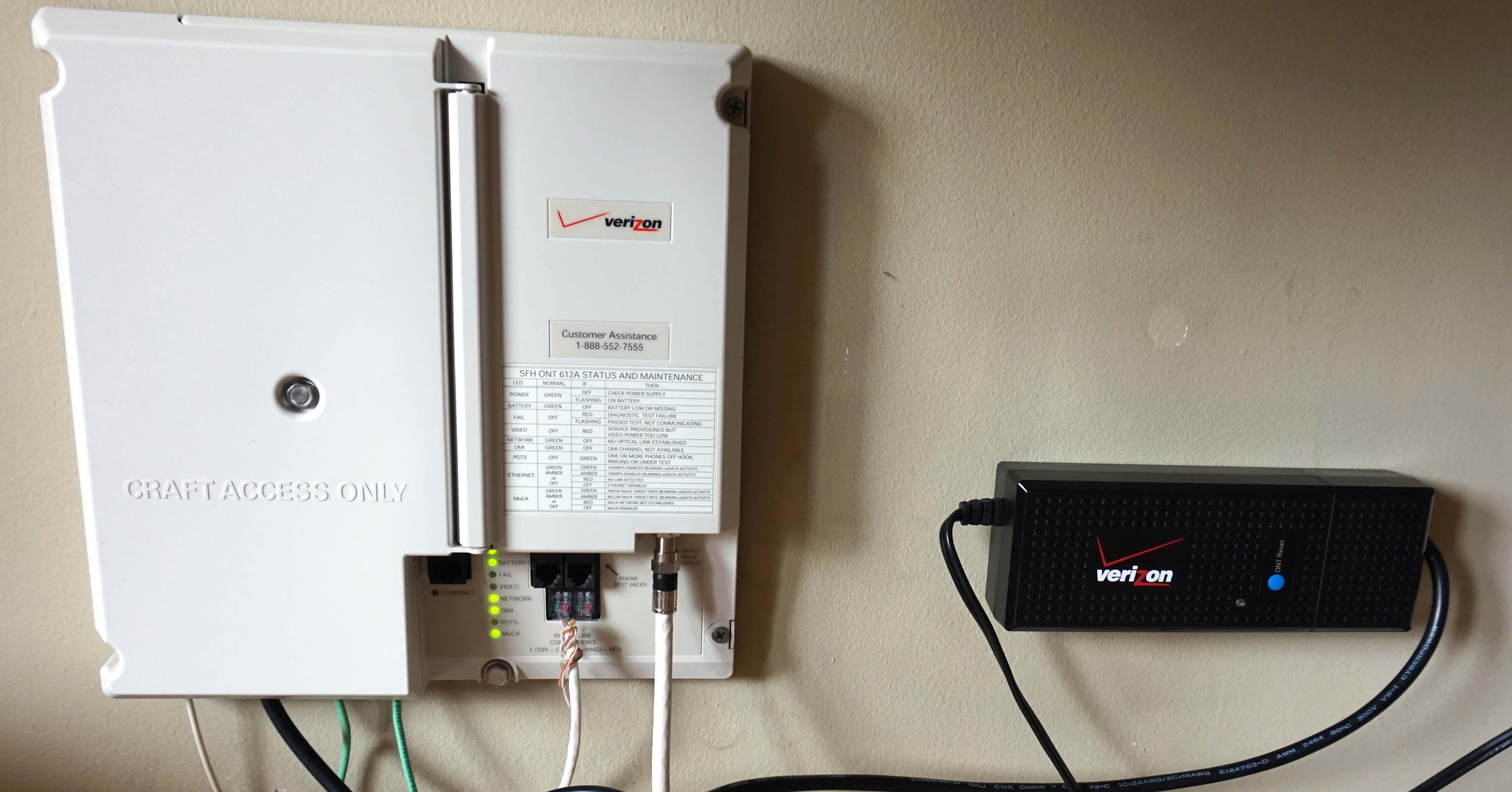 Verizon Fios wall power units