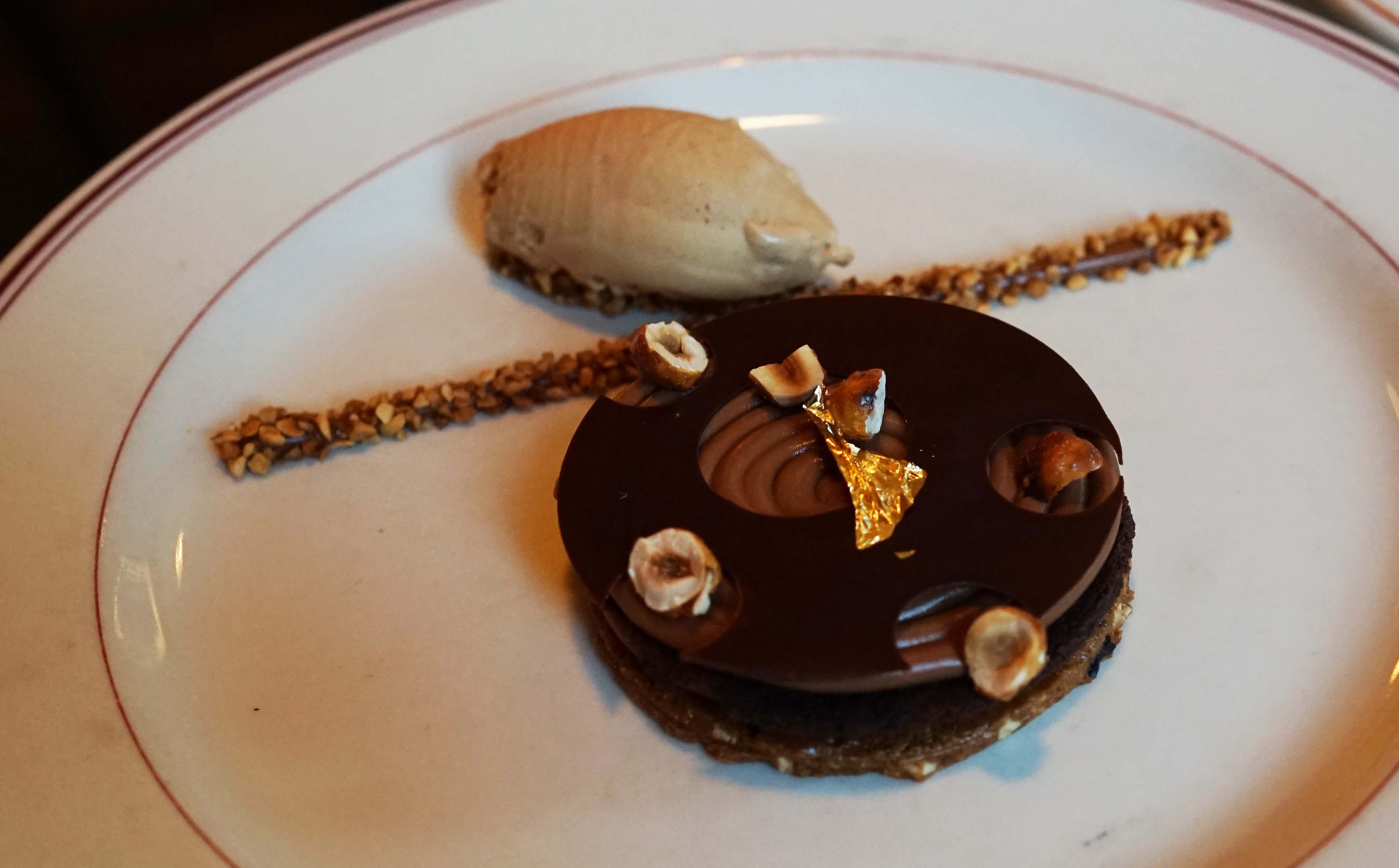 Le Diplomate chocolate wafer dessert