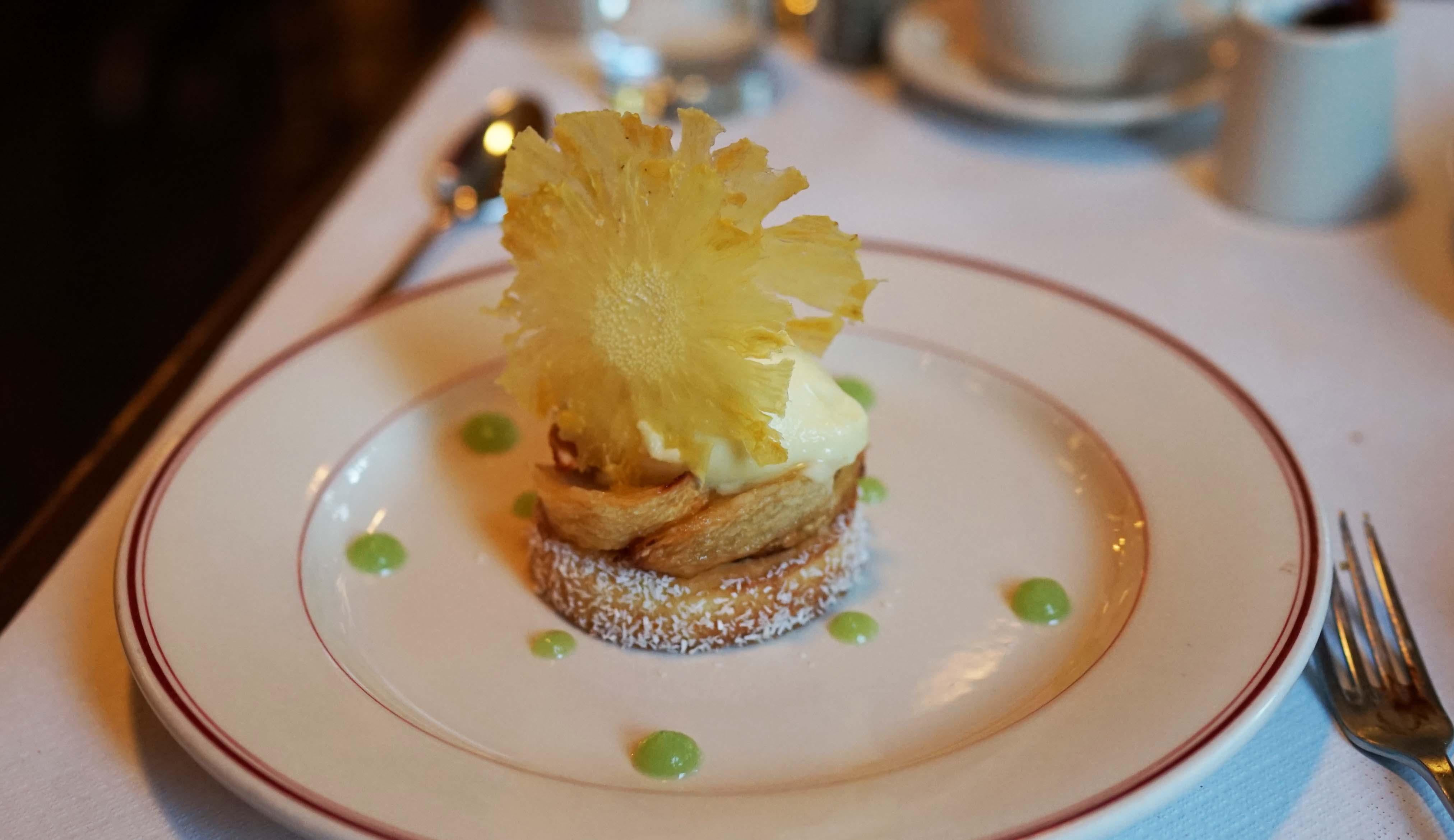 Le Diplomate pineapple dessert
