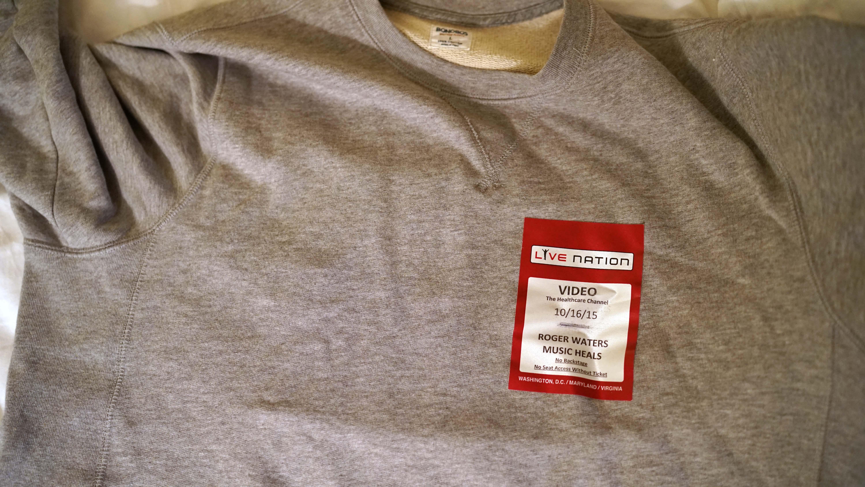 MusiCorp shirt and press tag