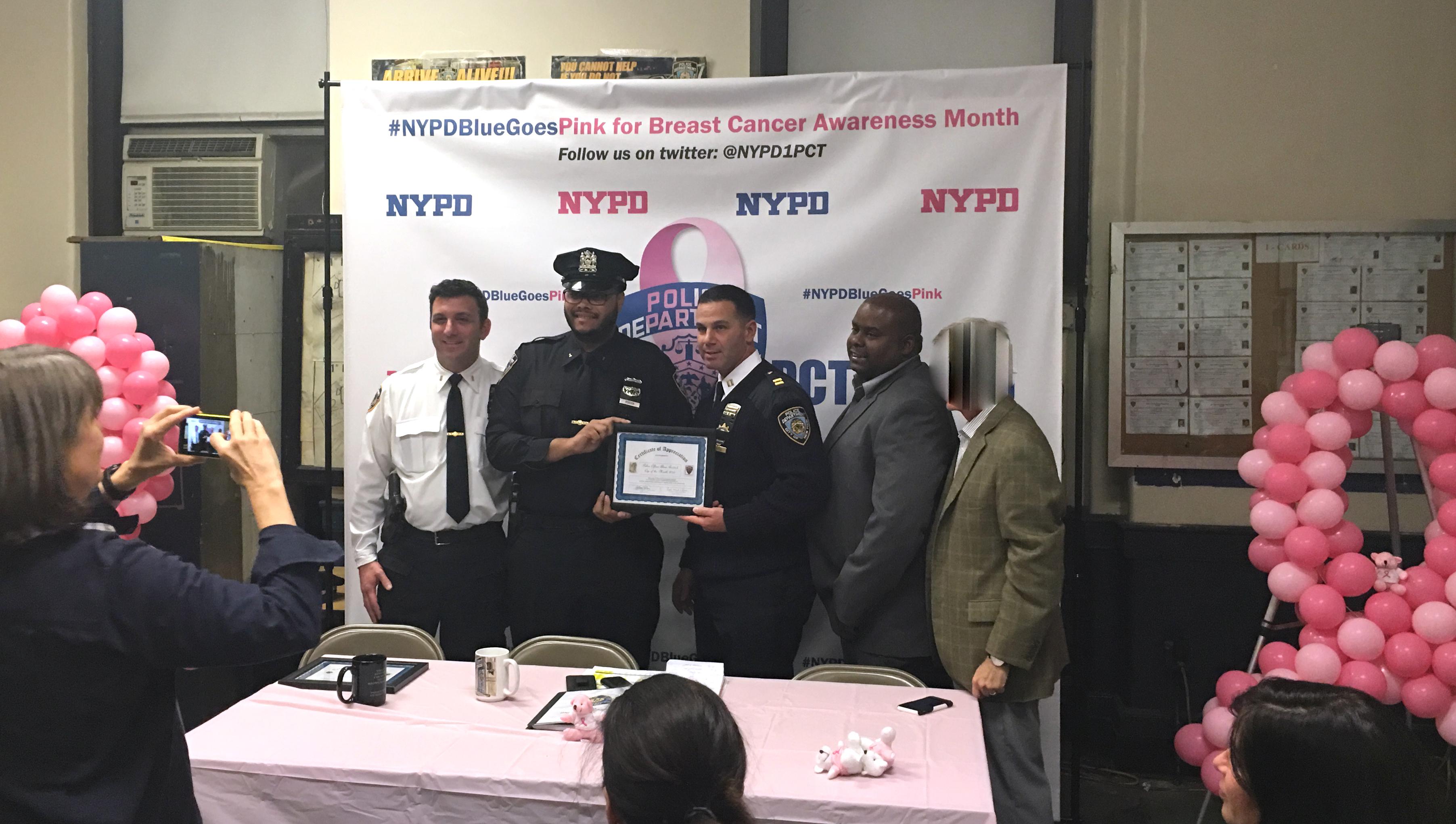 Officer Riddick NYPD award