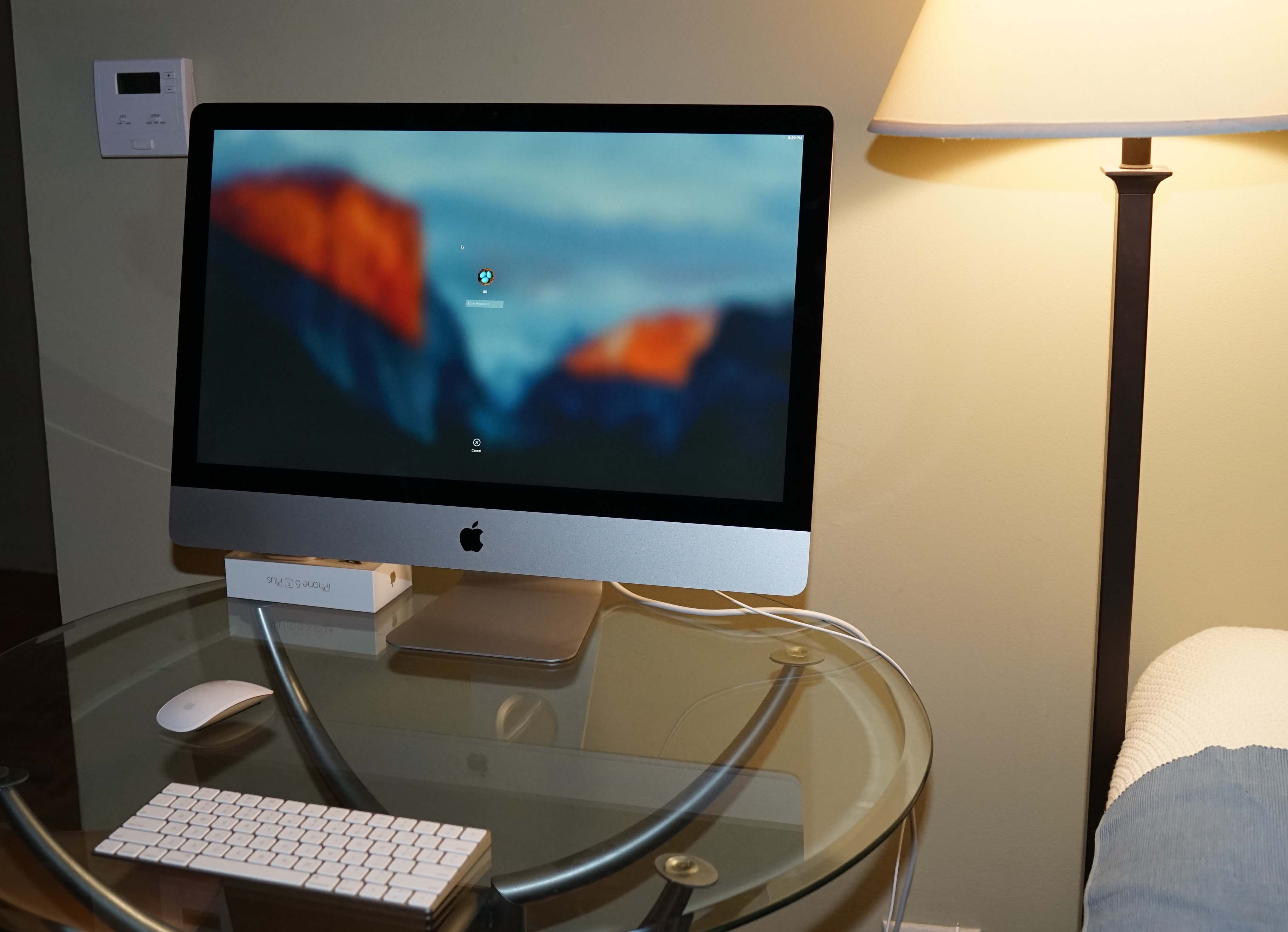 Apple iMac out of the box 11-3-2015