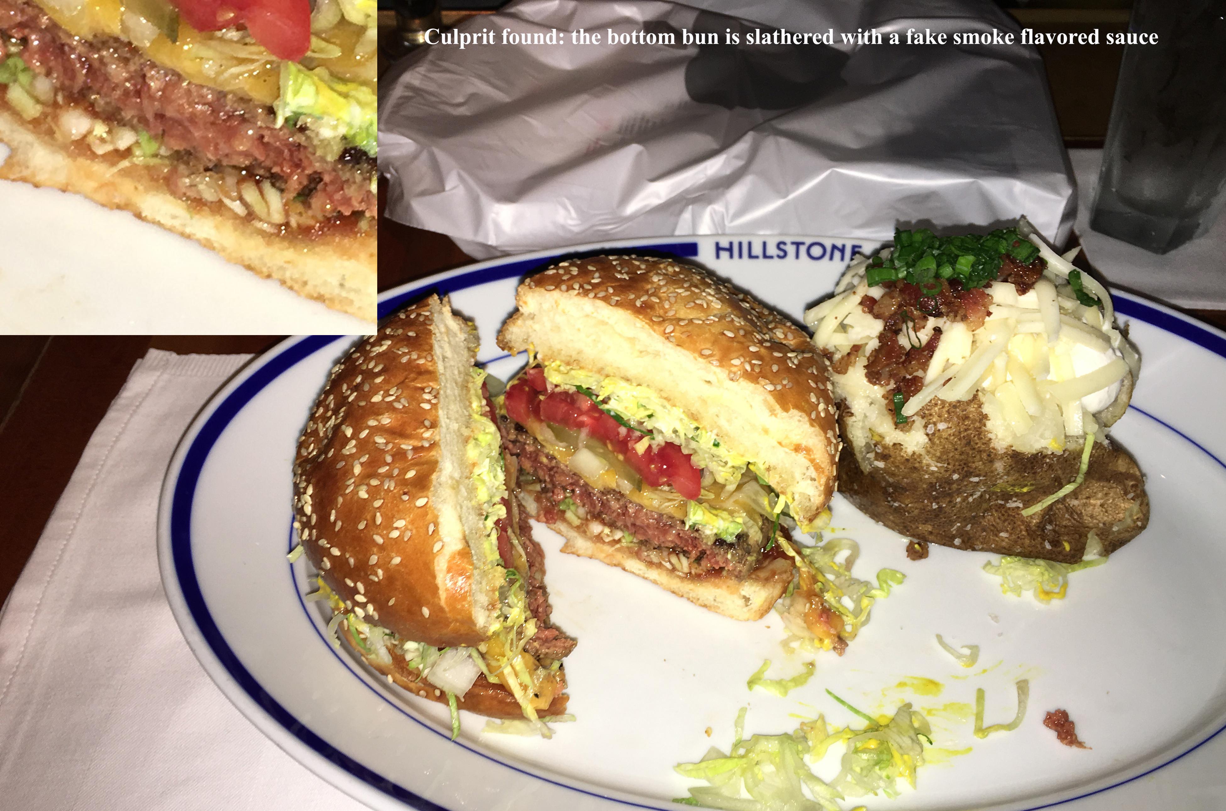 Hillstone cheeseburger