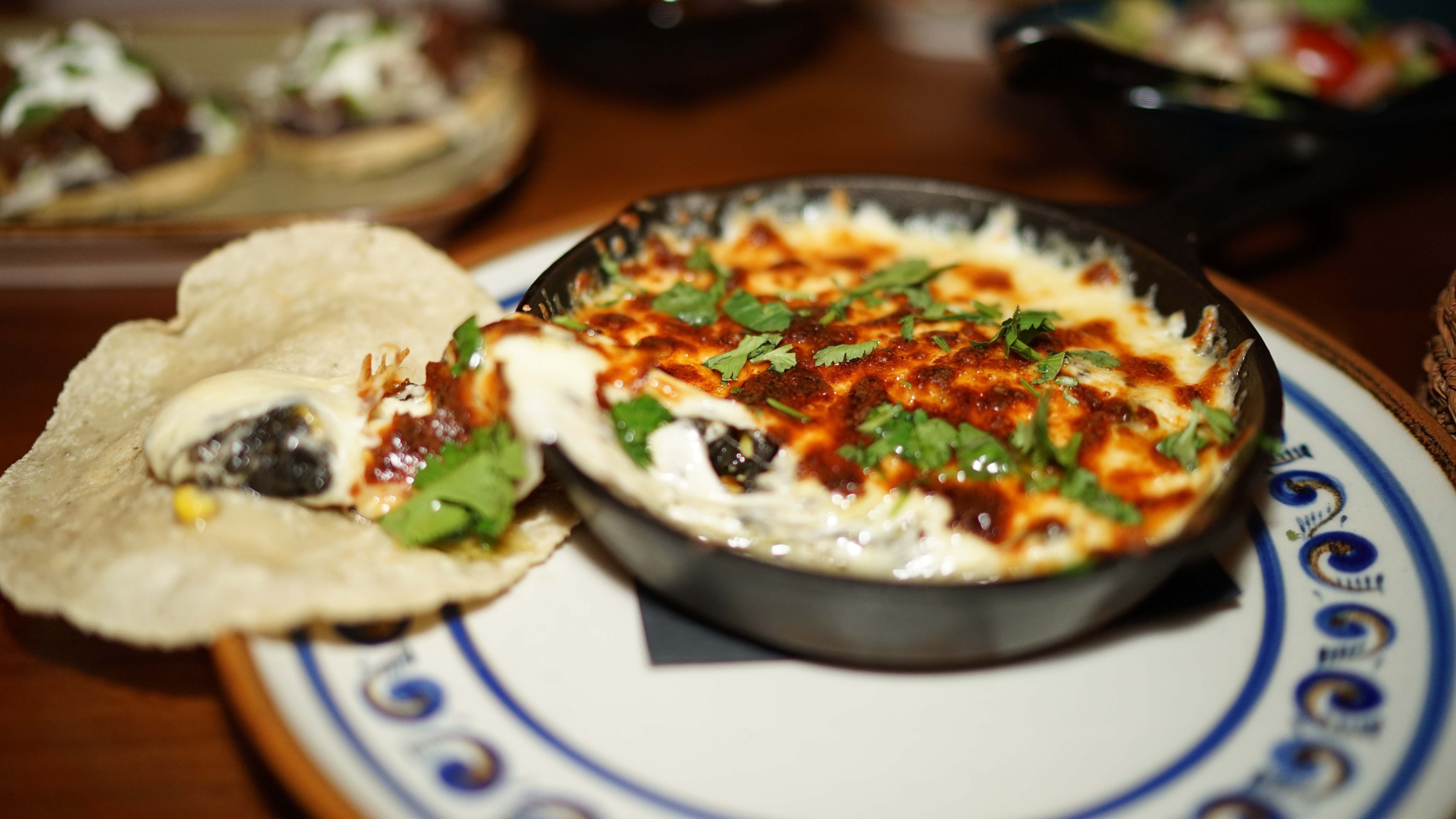 Rosa Mexicano melted cheese