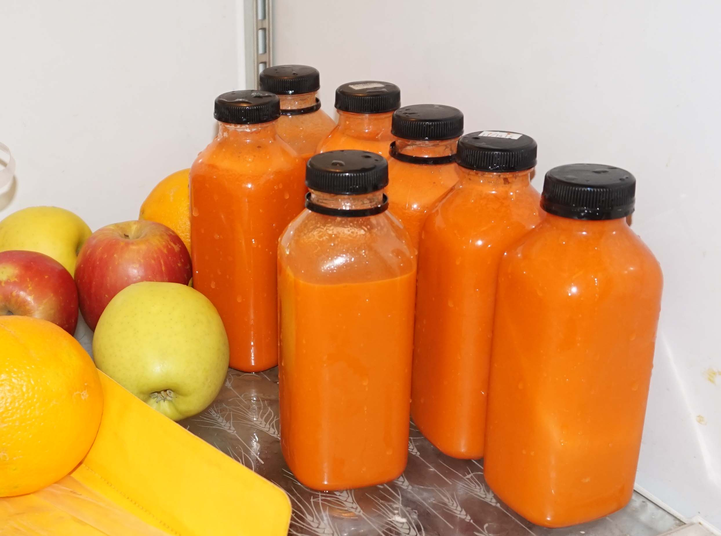 carrot juice bottles