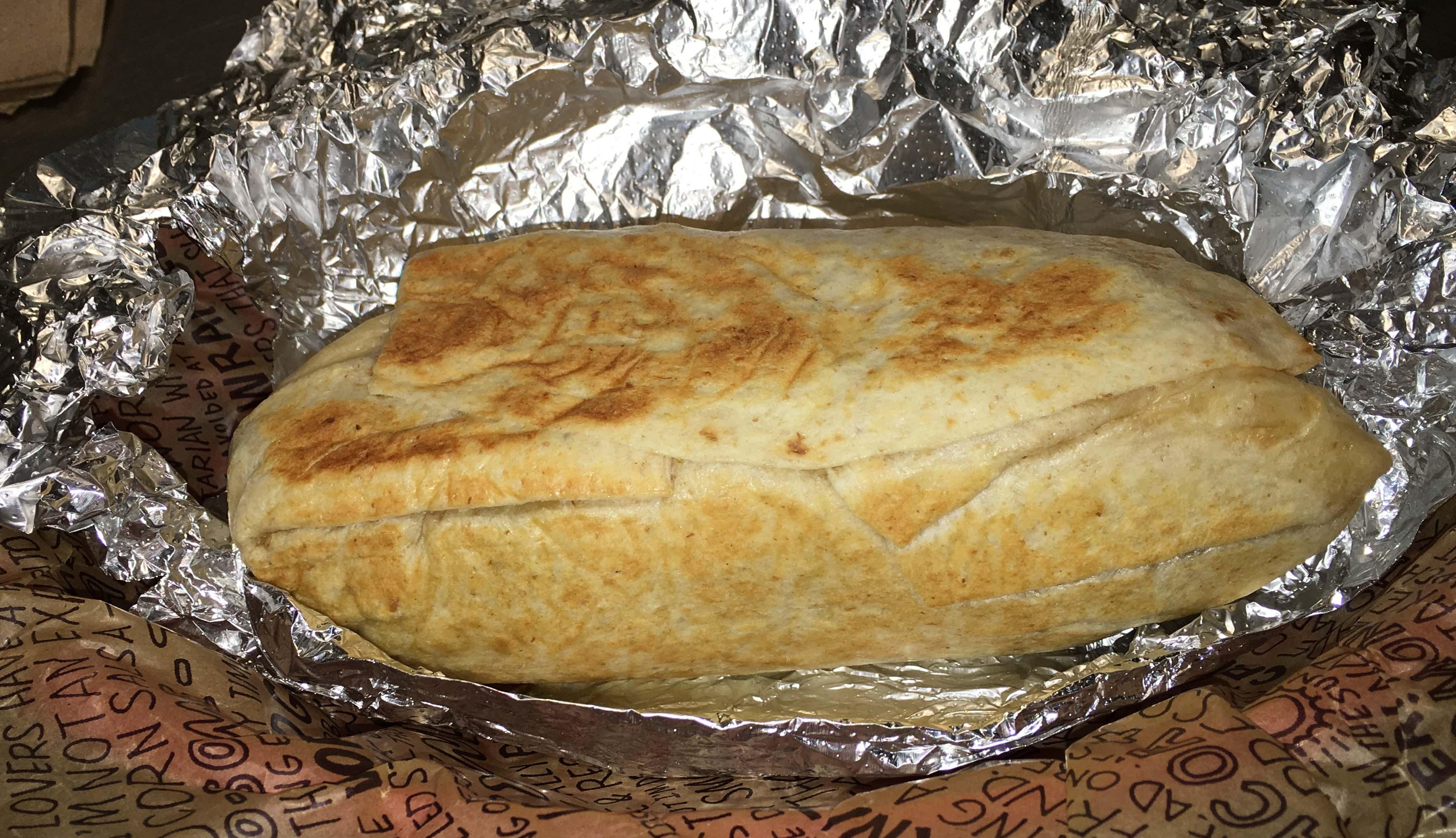 toasted Chipotle burrito