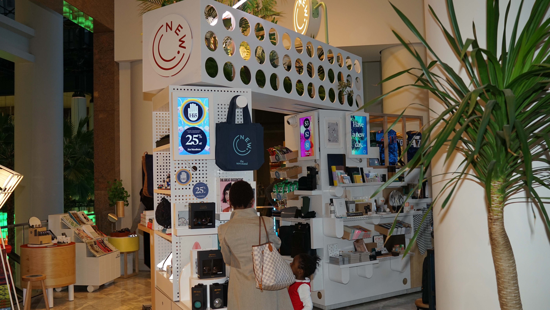 Brookfield Place pop up news stand