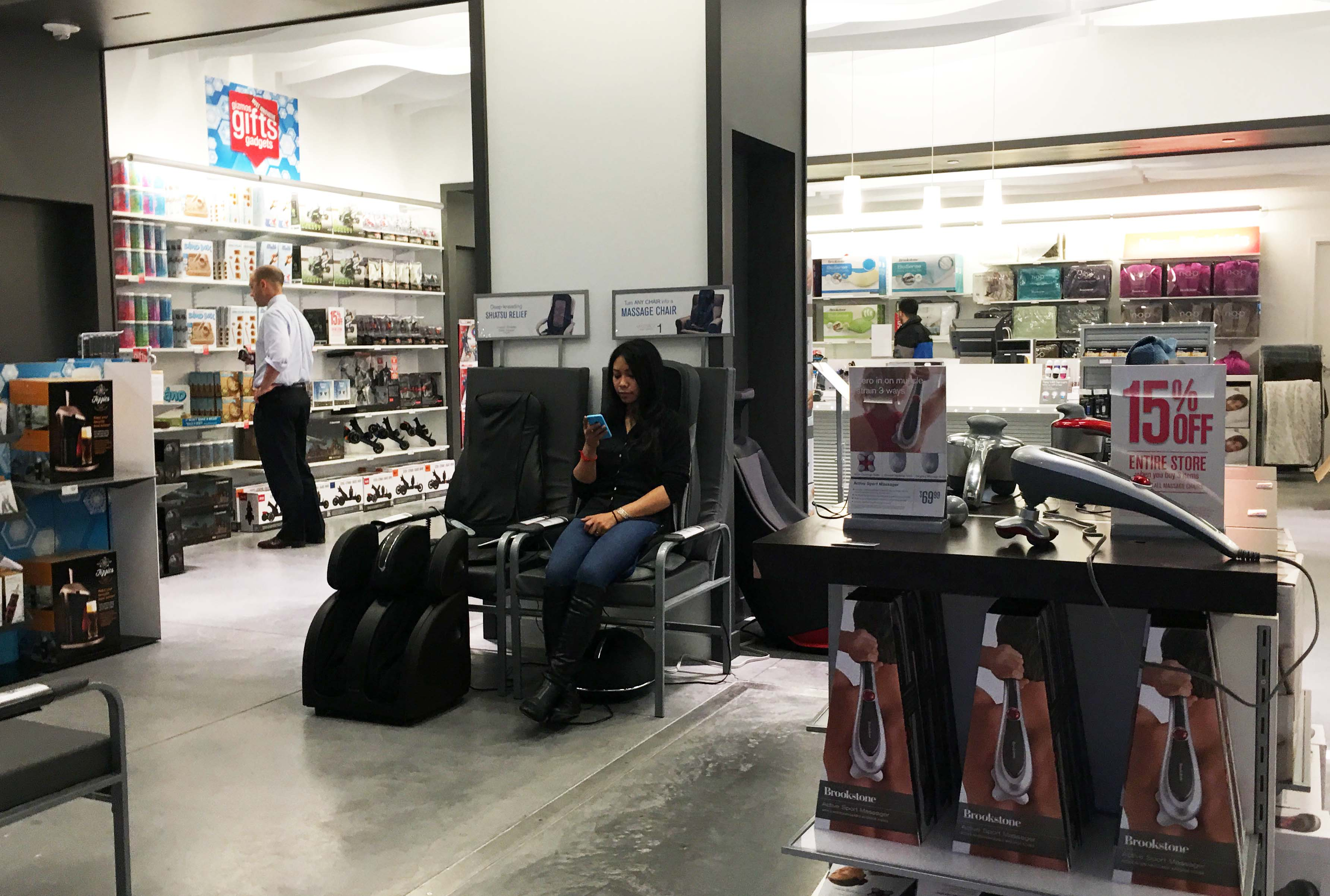 Brookstone inside