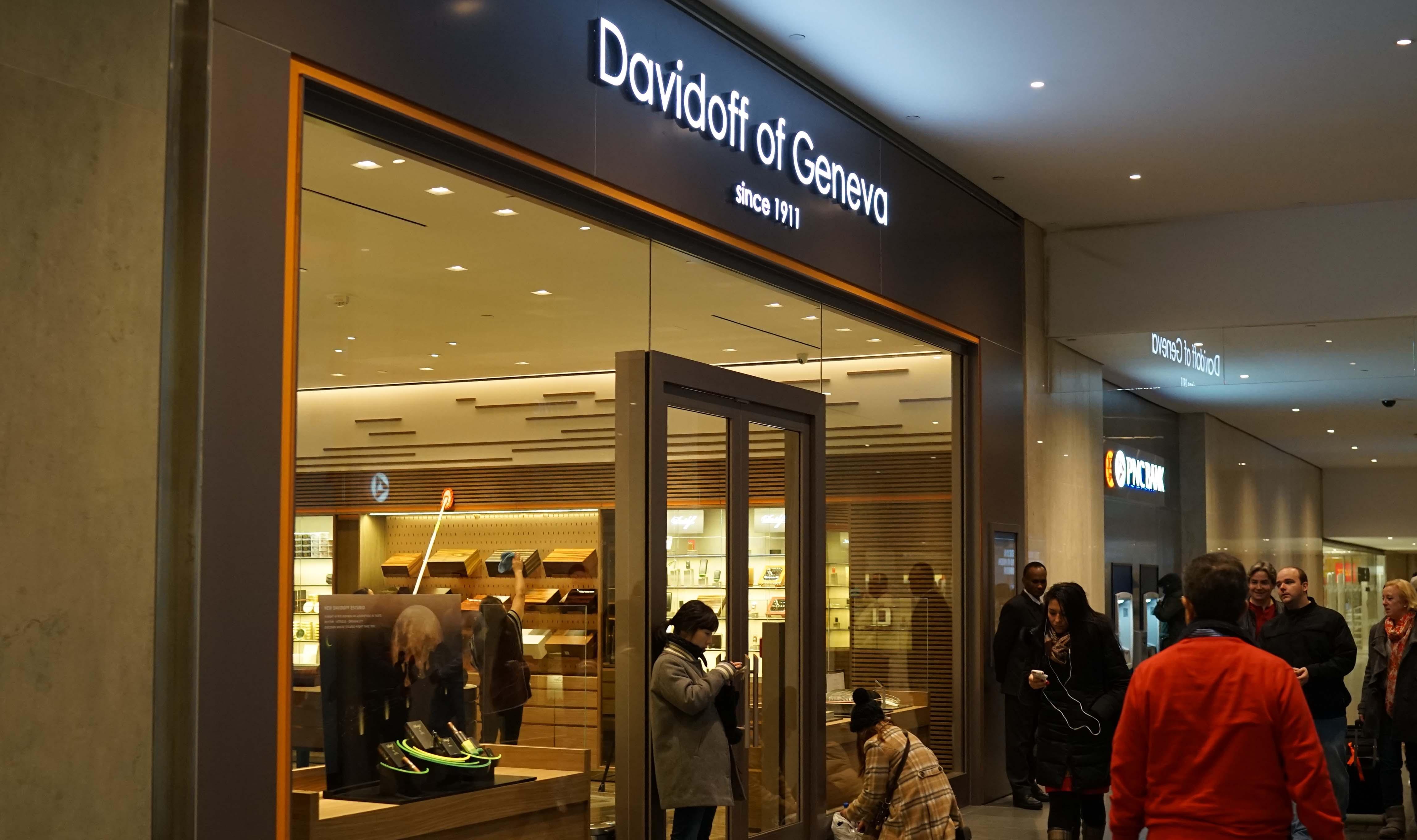 Davidoff of Geneva inside storefront
