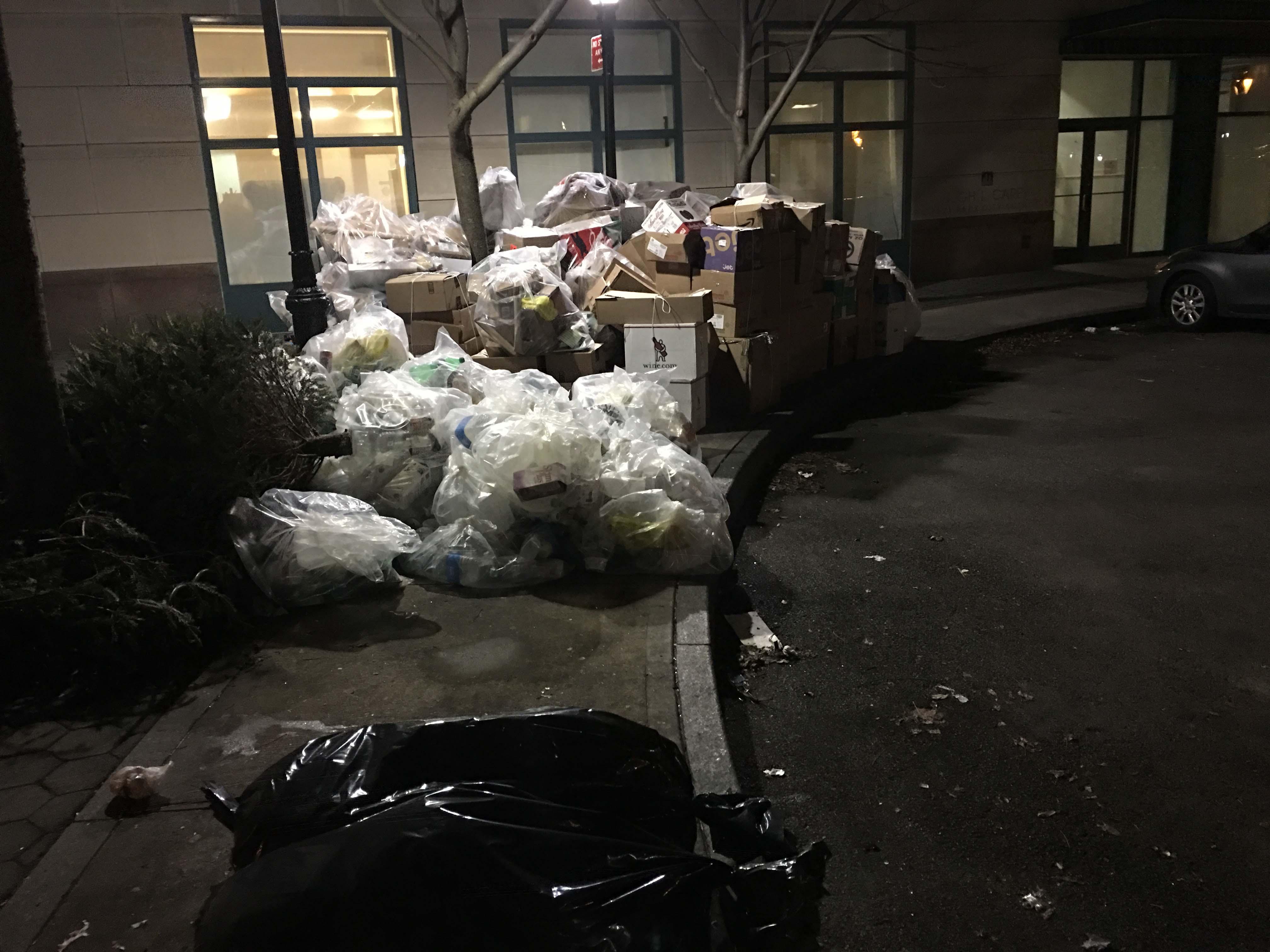 Trash on west thames