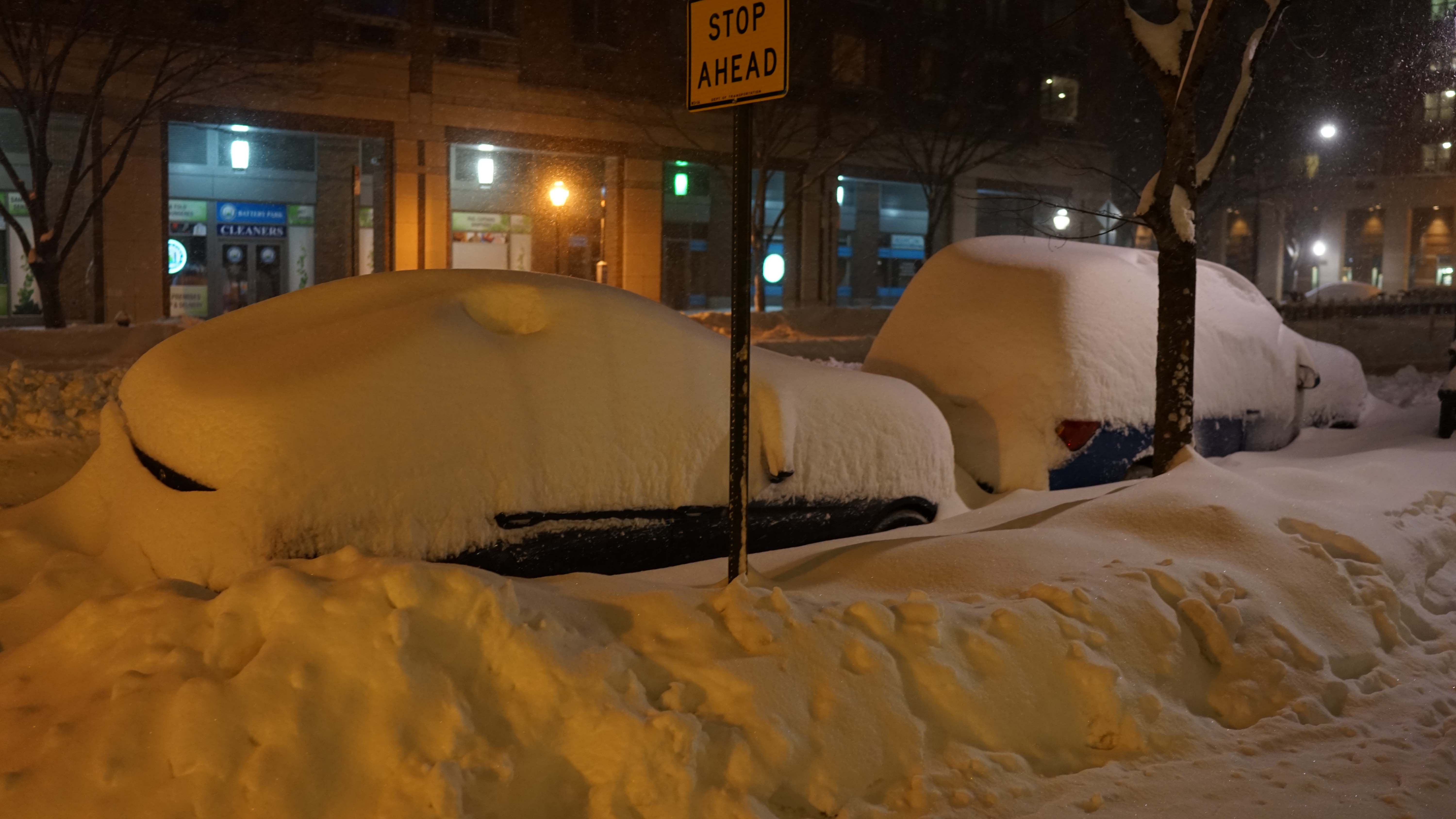 Cars measured in snow
