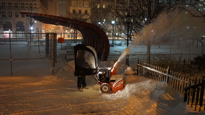 Parks guy w snowblower