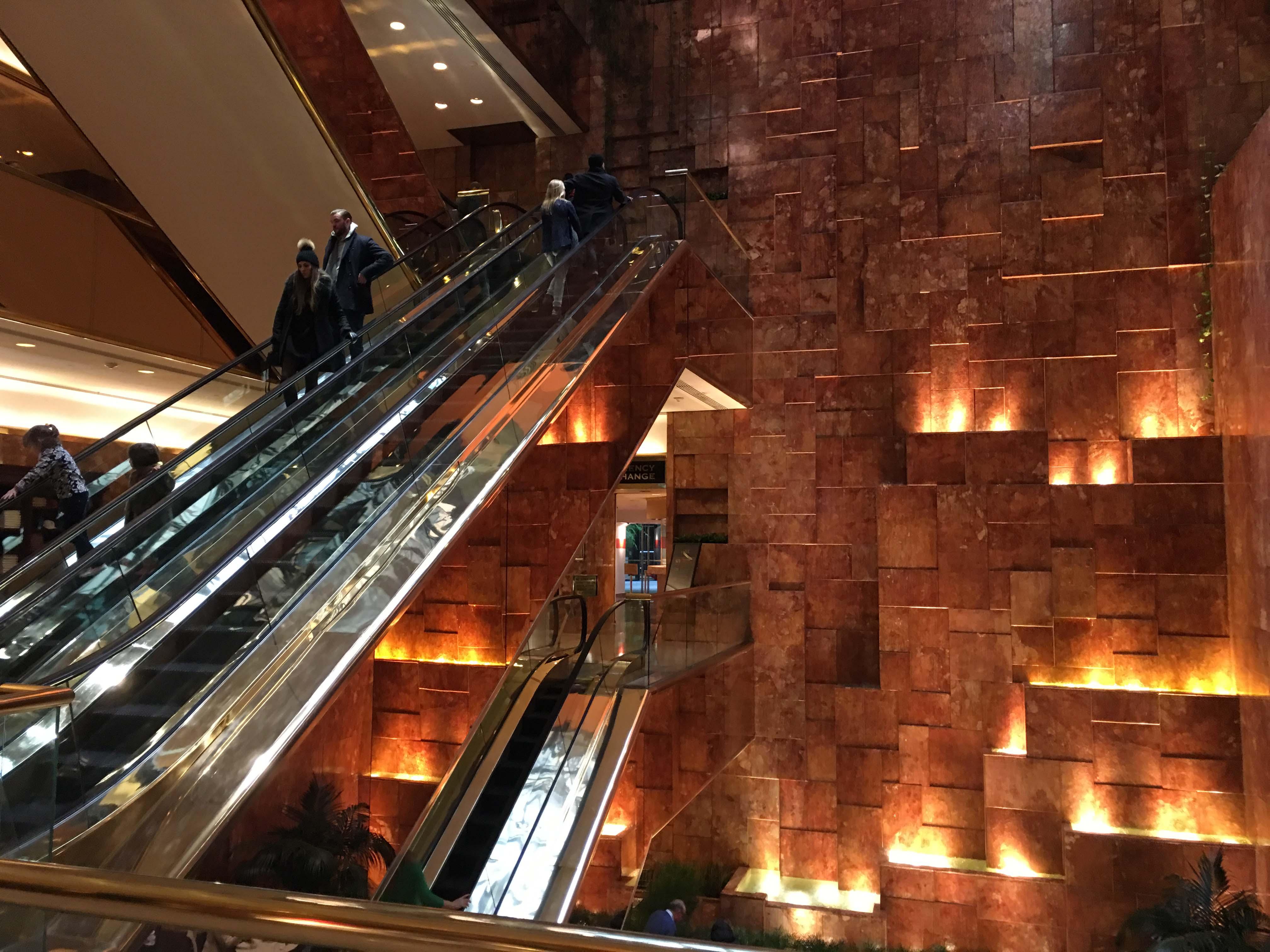 Trump escalator
