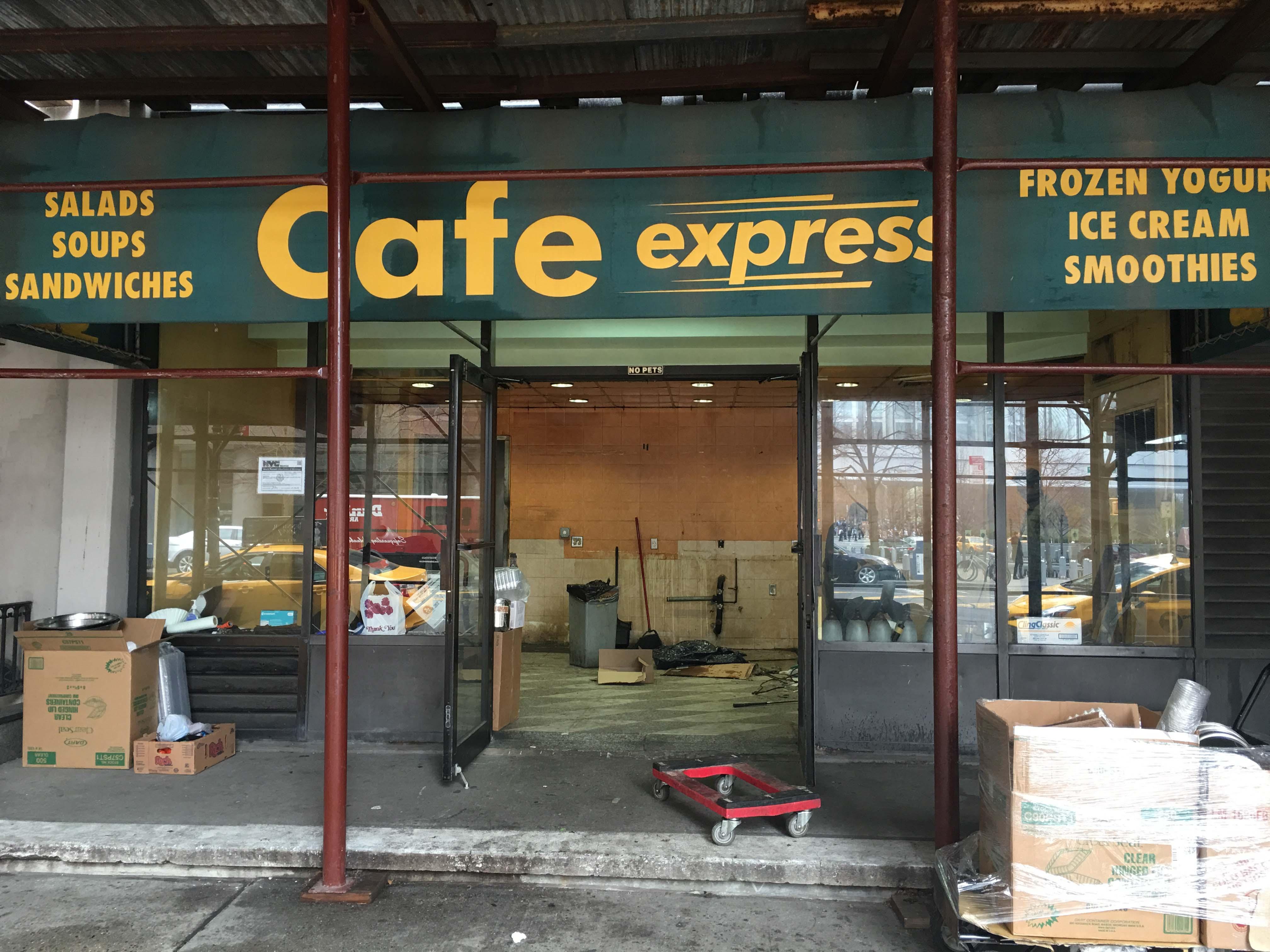 Cafe express gateway gone