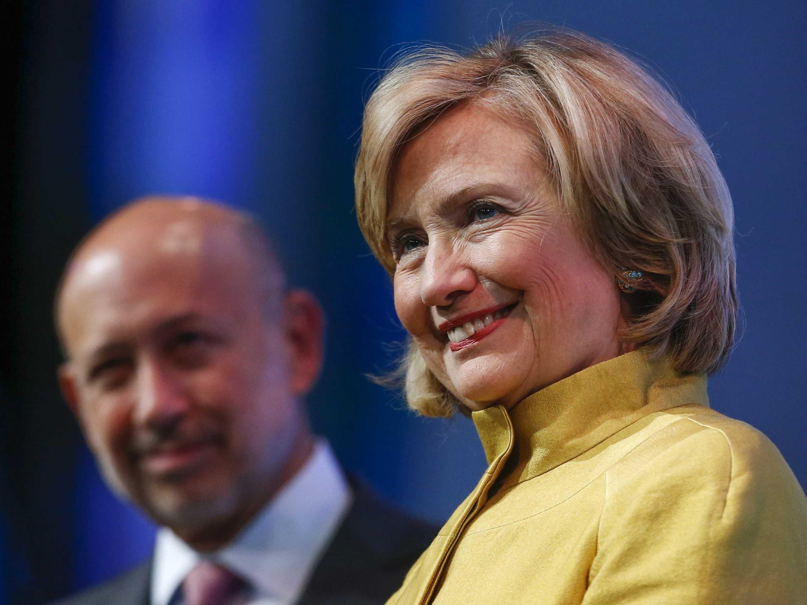 Hillary Clinton and Lloyd Blankfein