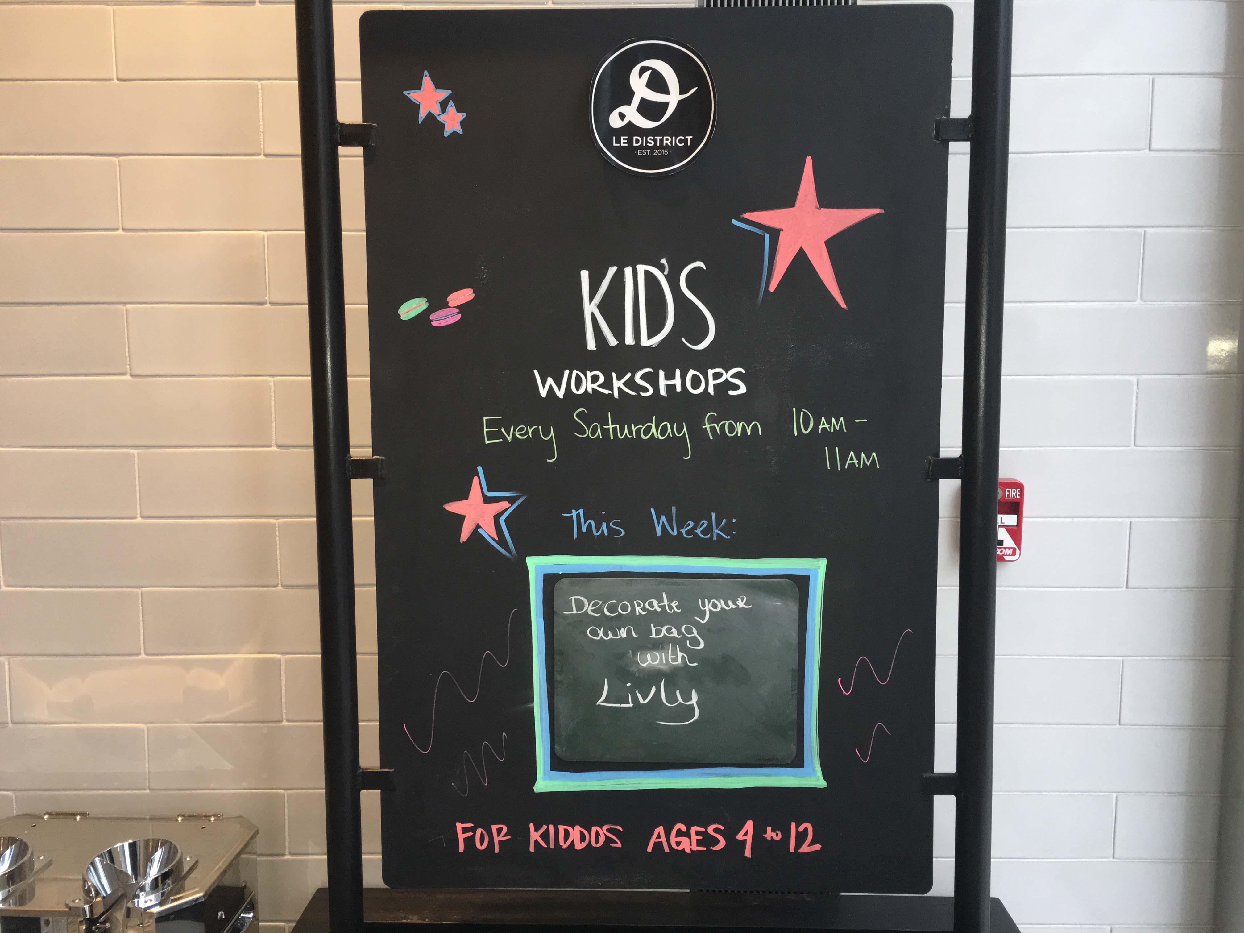 Le District kids workshops