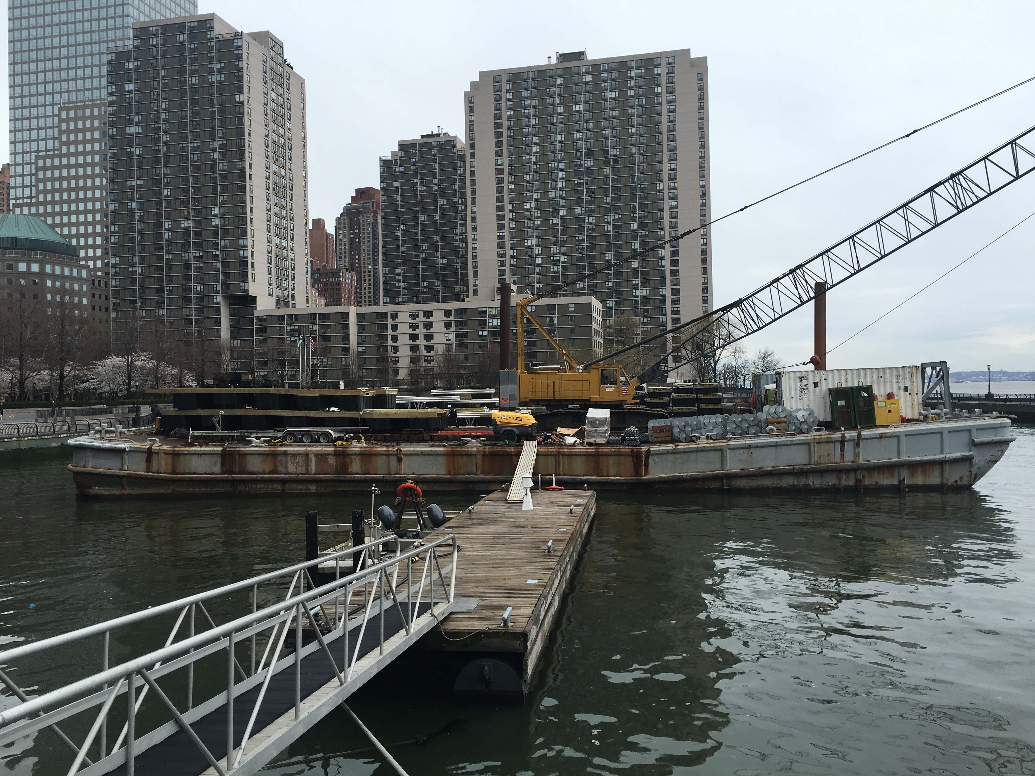 North Cove Marina barge for docks
