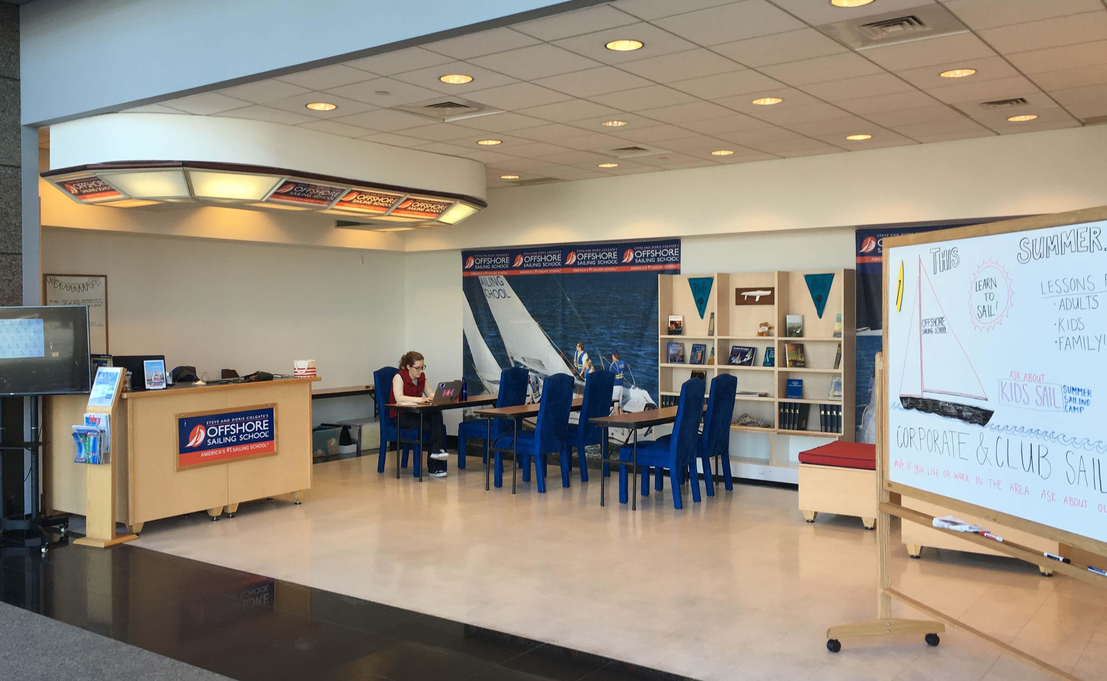 Offshore sailing school office in Mercantile Exchange building