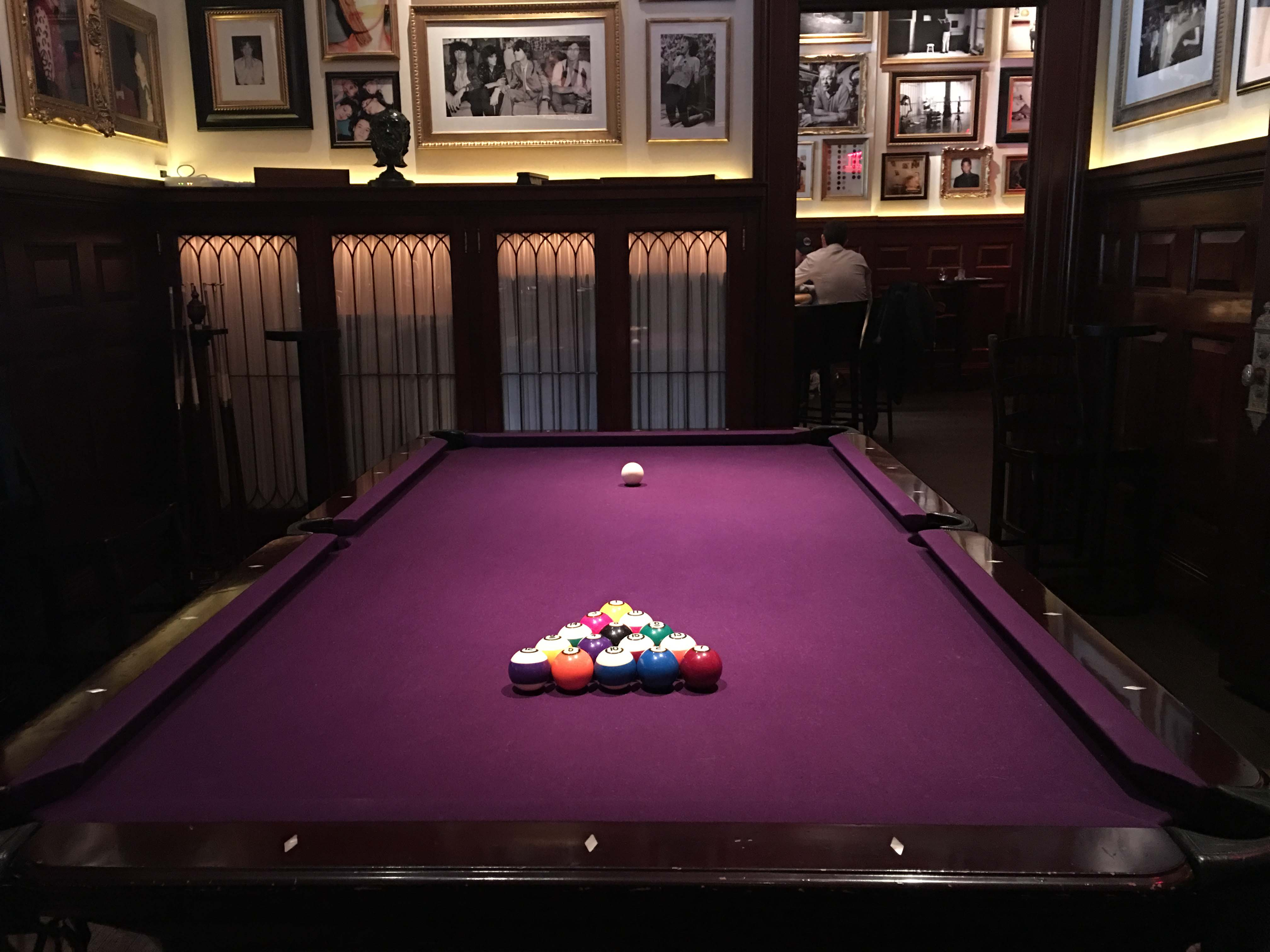 Pool table at The Clocktower