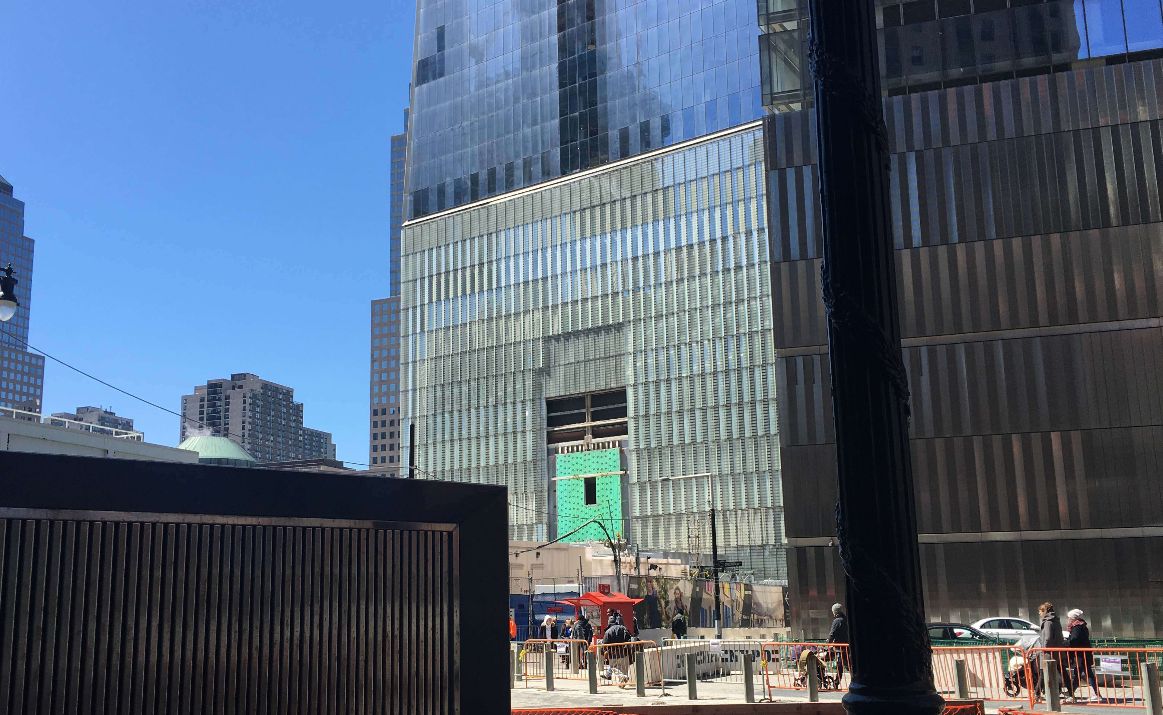 temp loading dock to One World Trace Center 1WTC