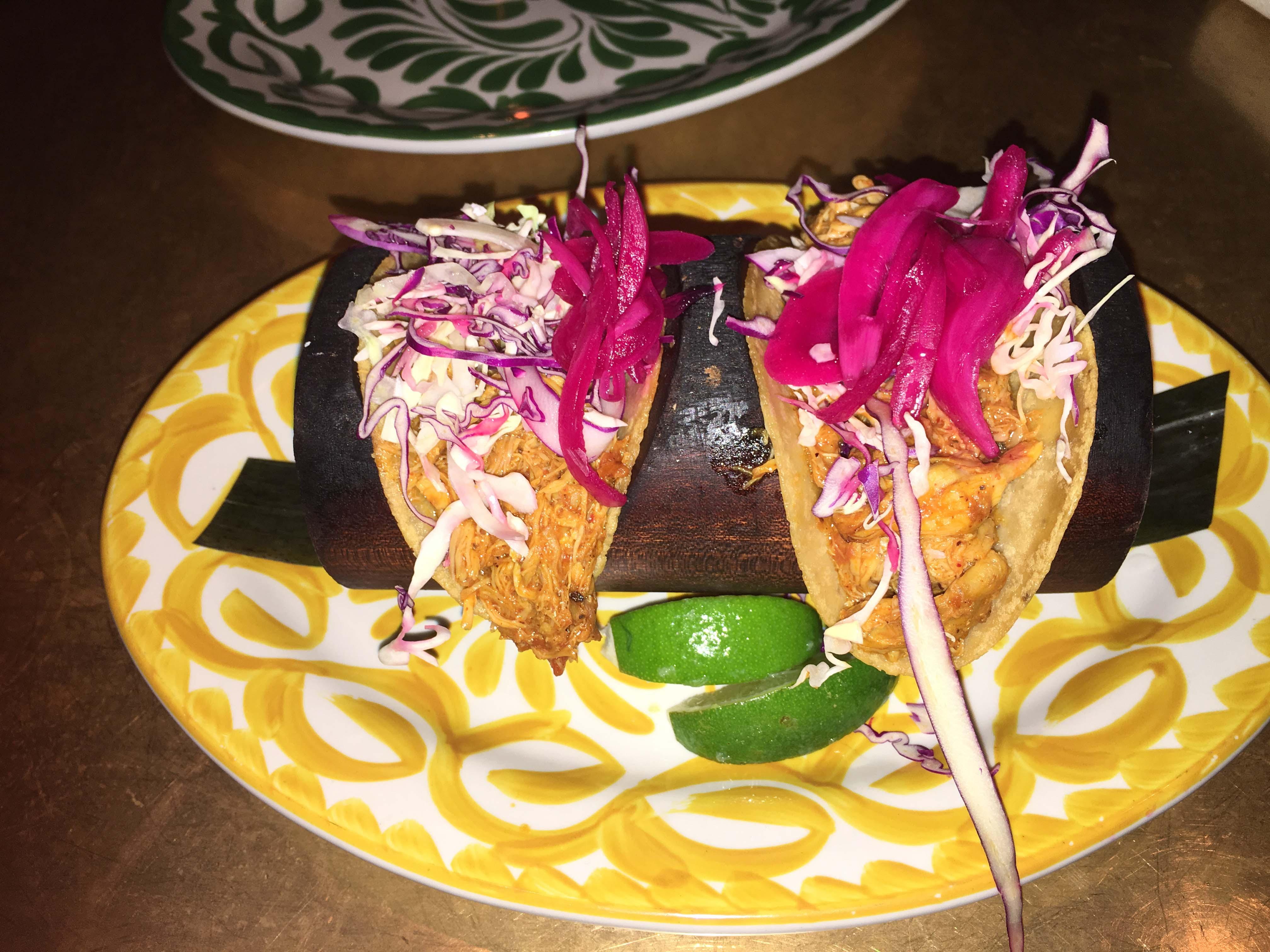 Bodega negra chicken tacos