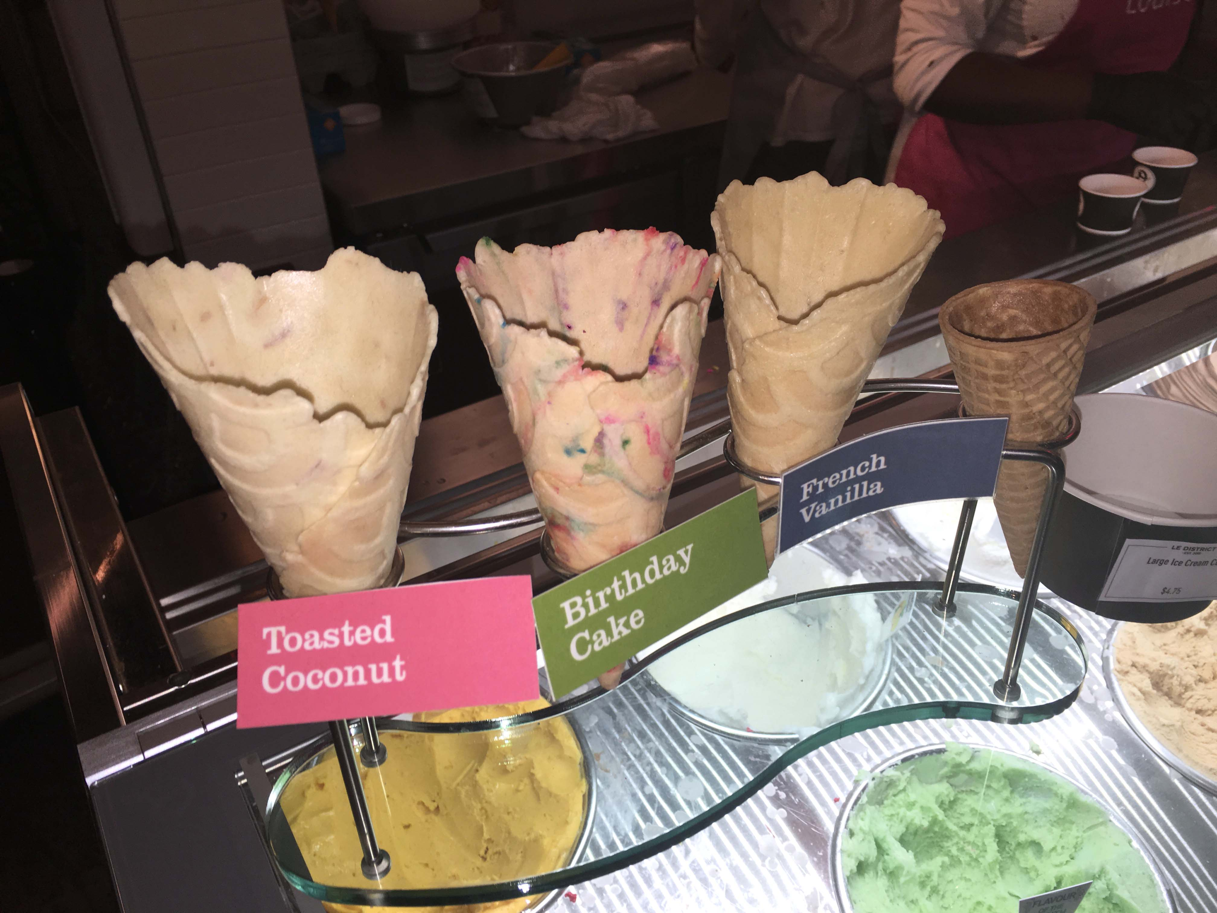 Le District waffle cones