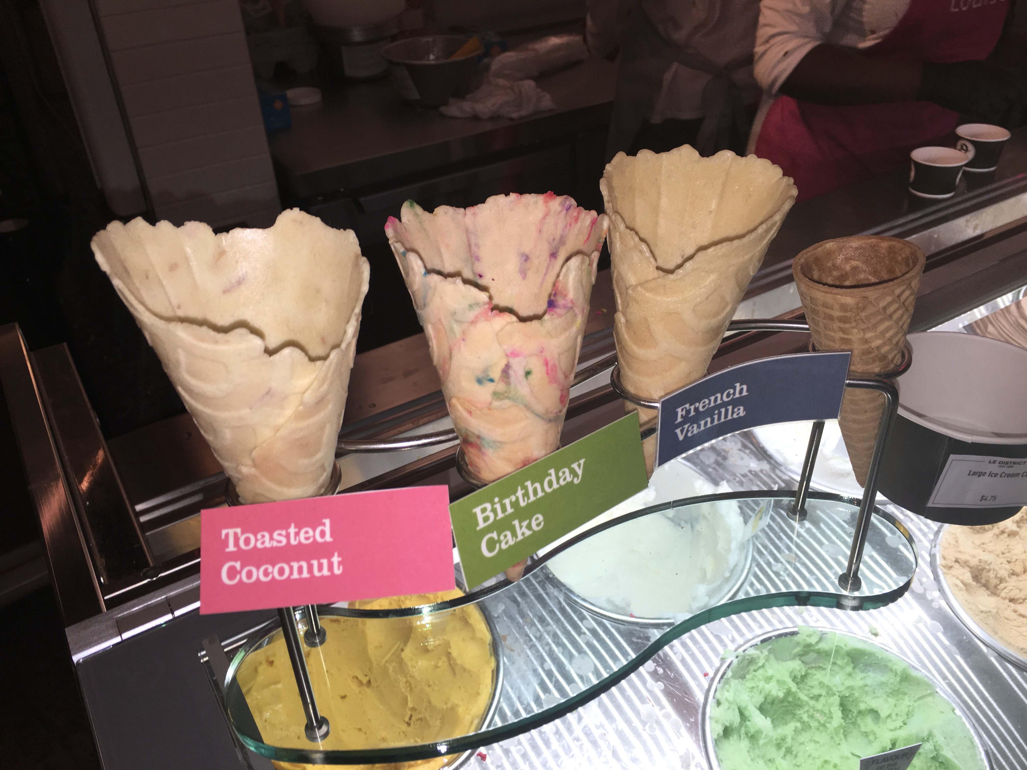 Le District waffle cones