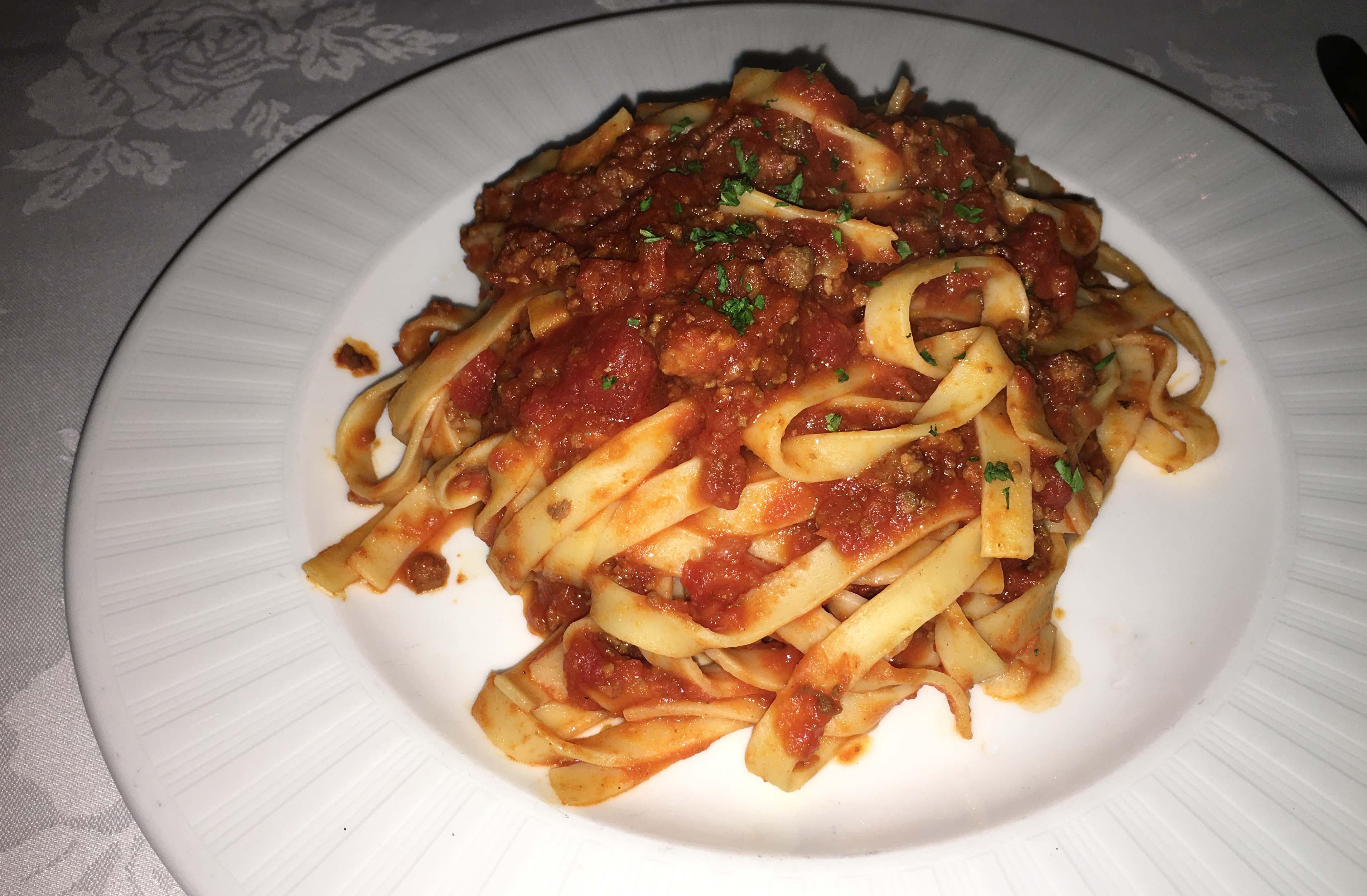 Mulino tagliatelli meat sauce