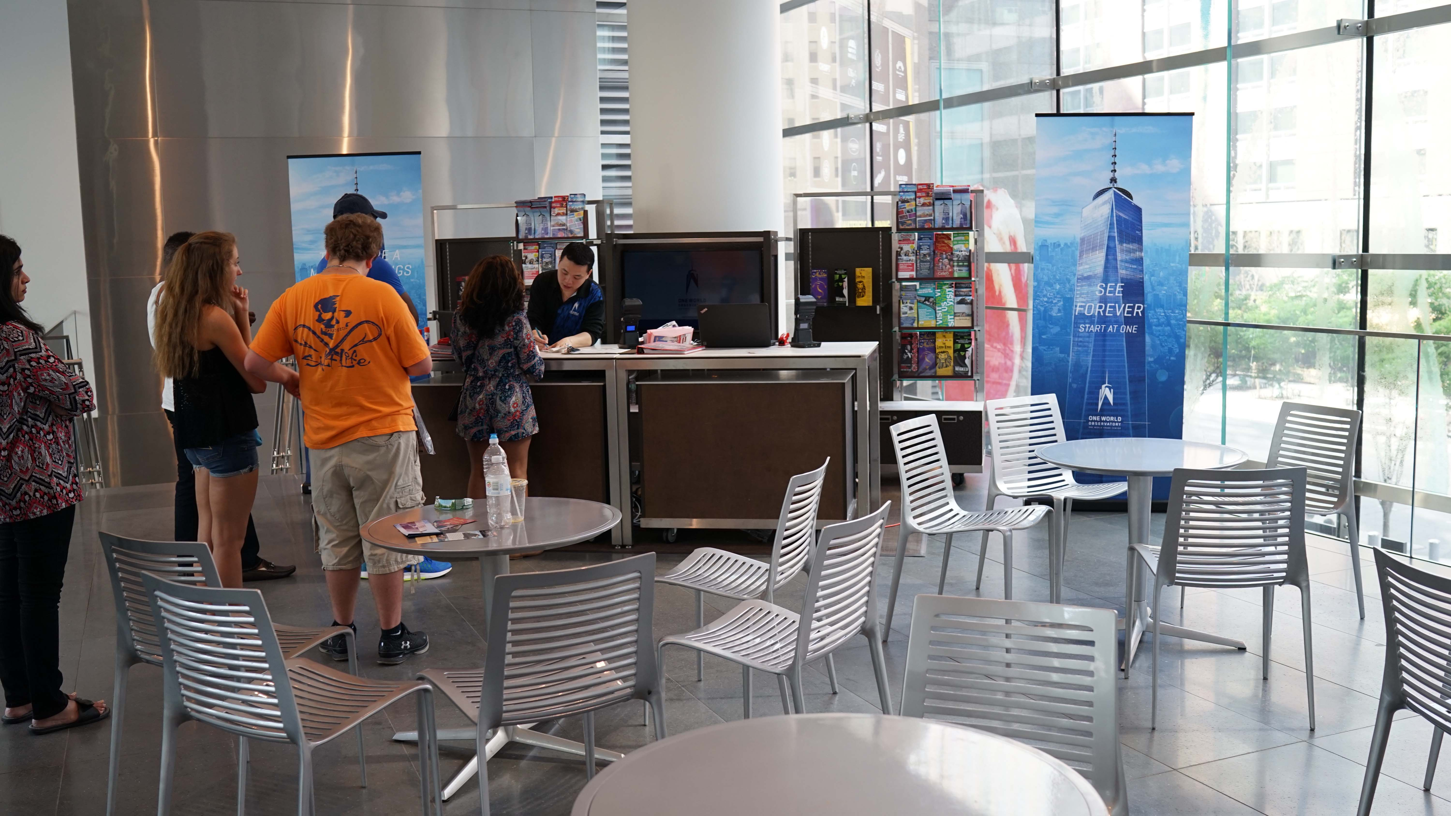 One World Observatory kiosk at brookfield Place