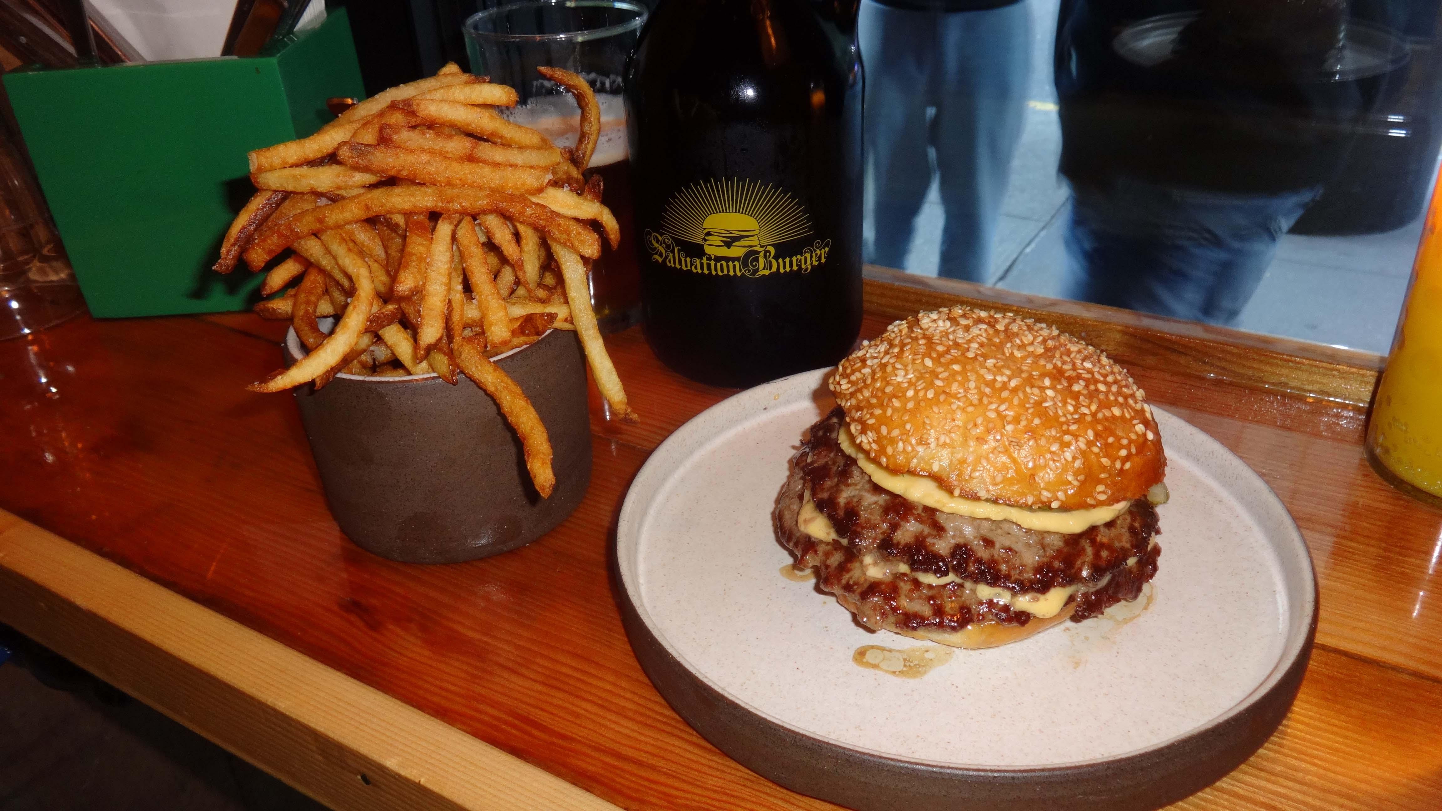 Salvation Burger burger and fries