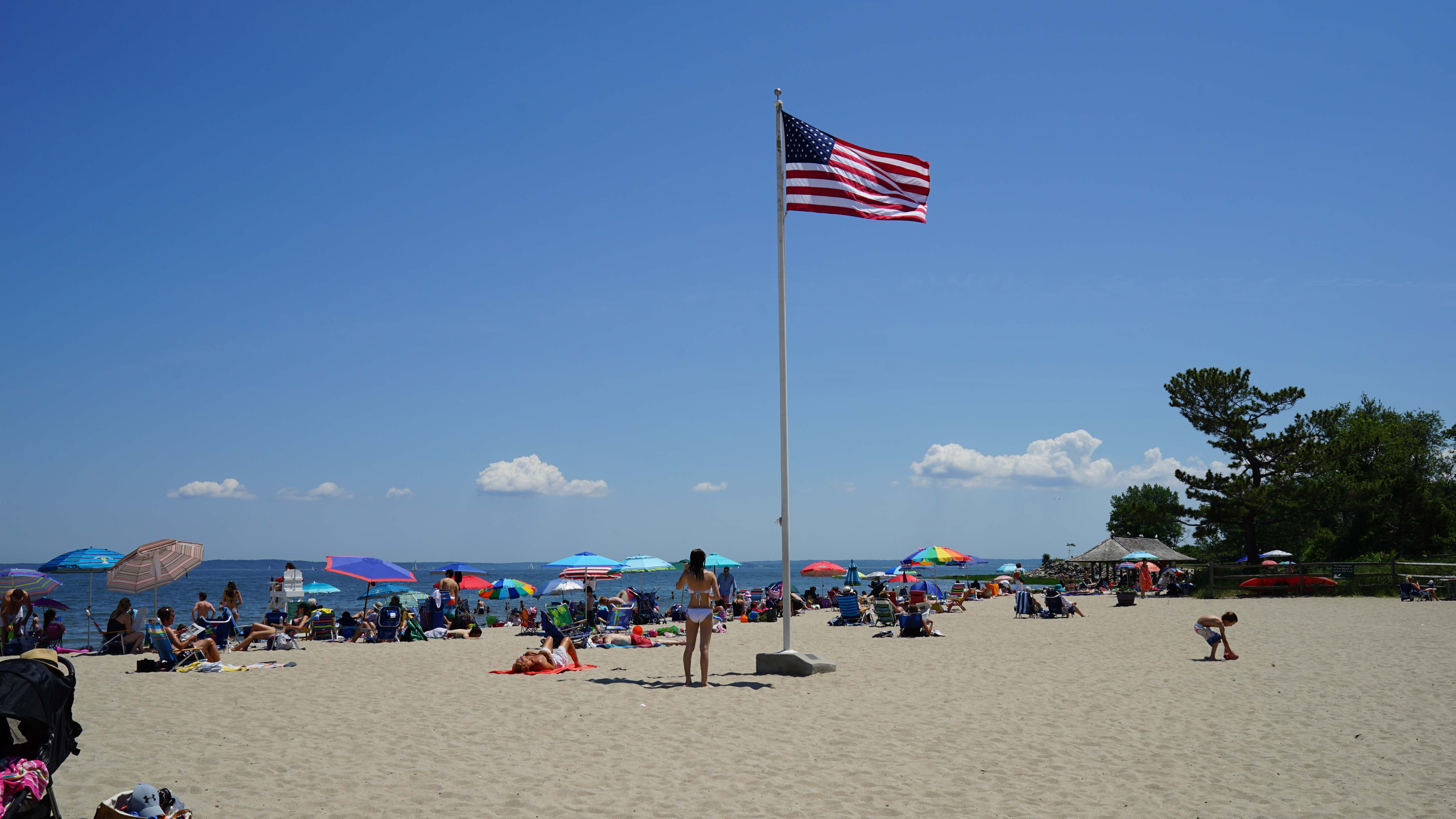 American flag pole Tods point