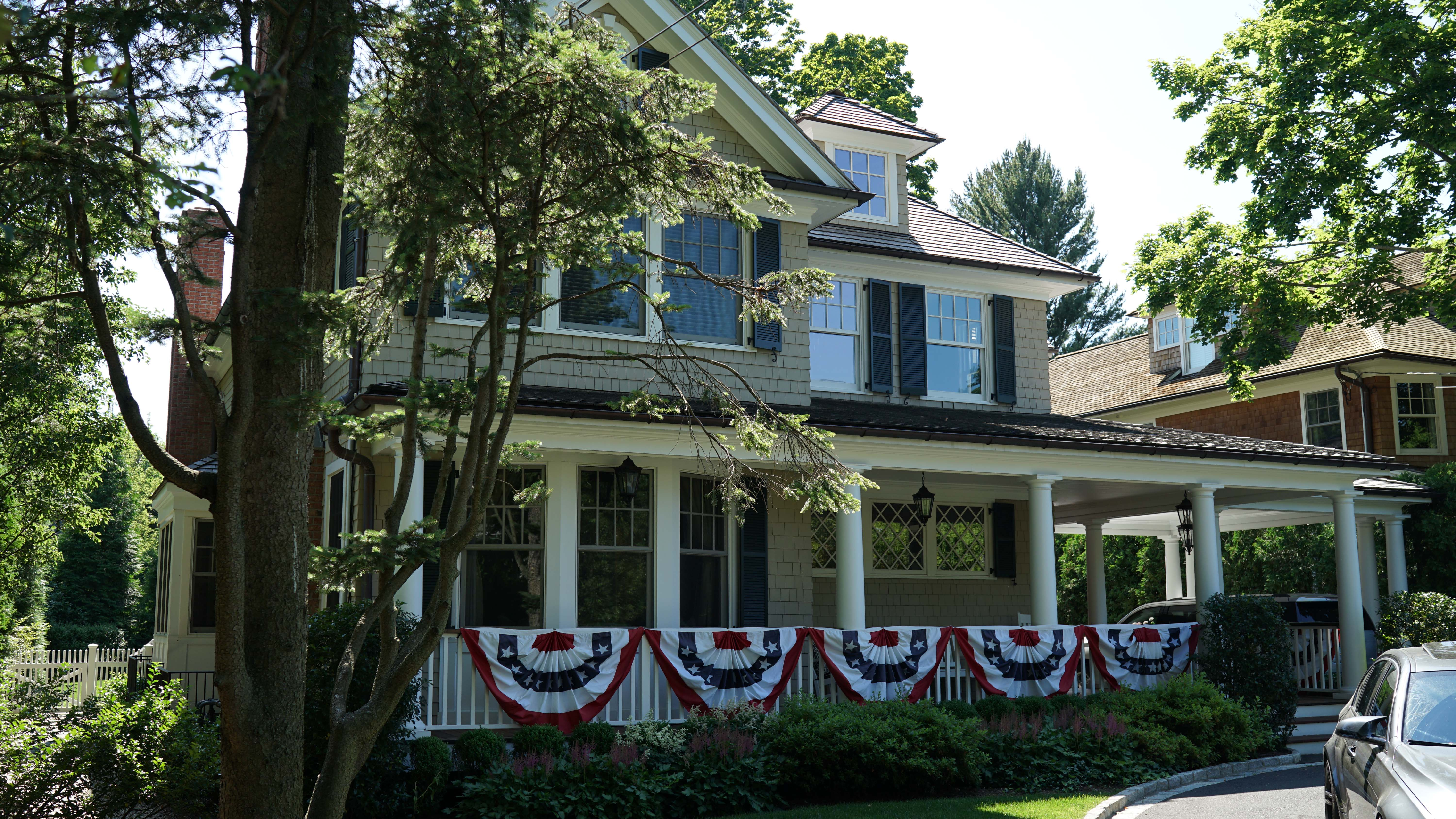 American flags on house 1