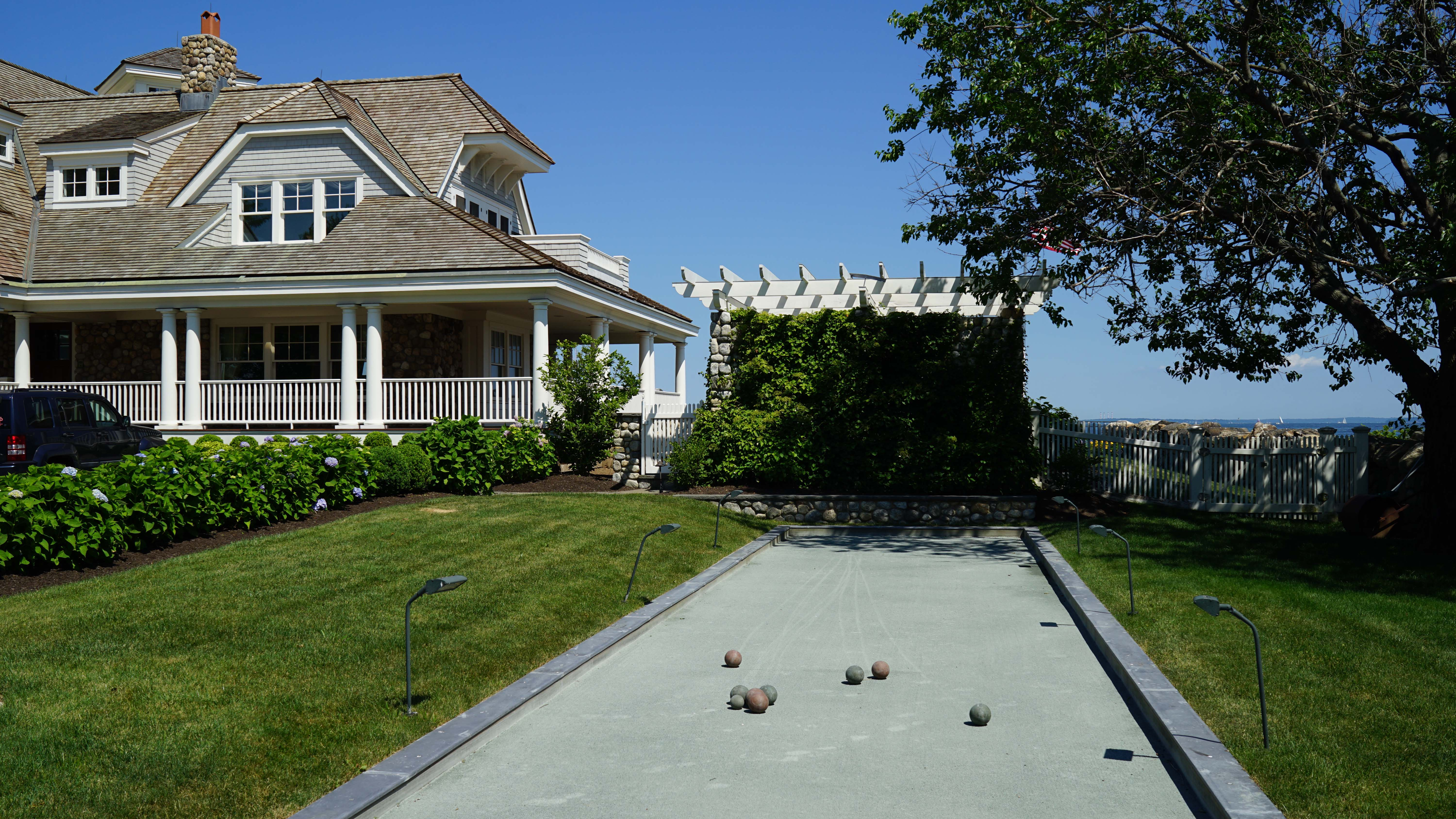 Bocce ball court Tods point od greenwich