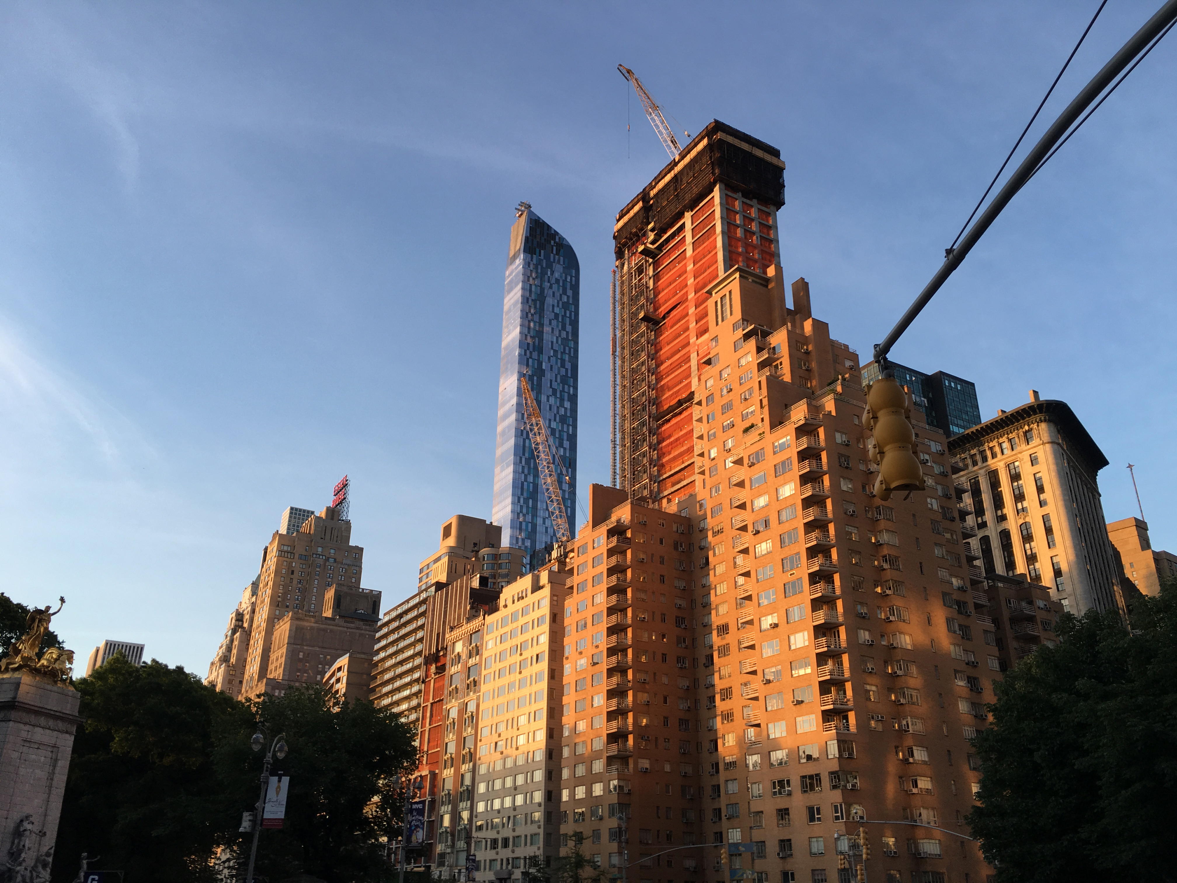 Central Park South in morning 6-11-2016