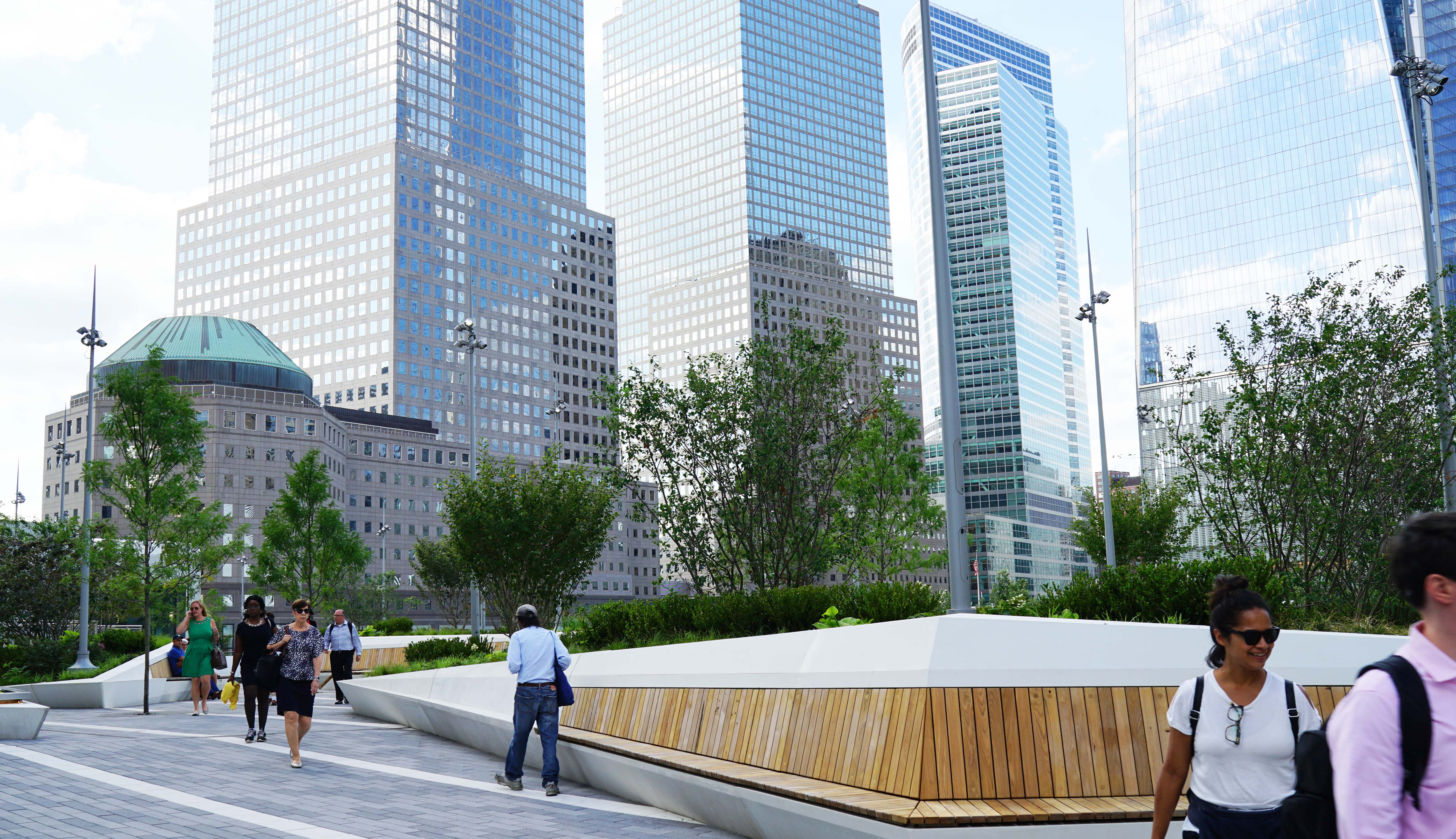 Liberty park benches