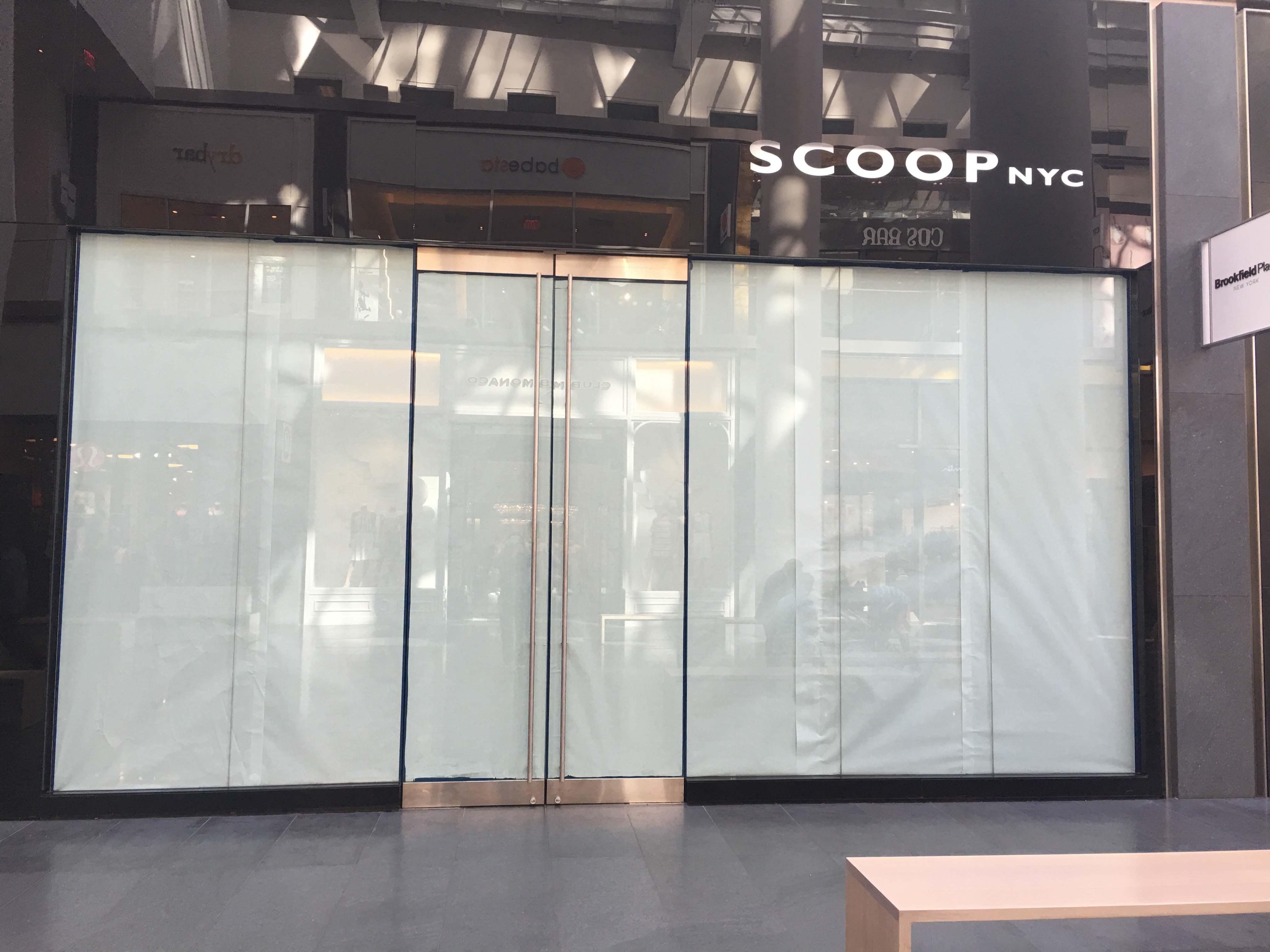 Scoop closed
