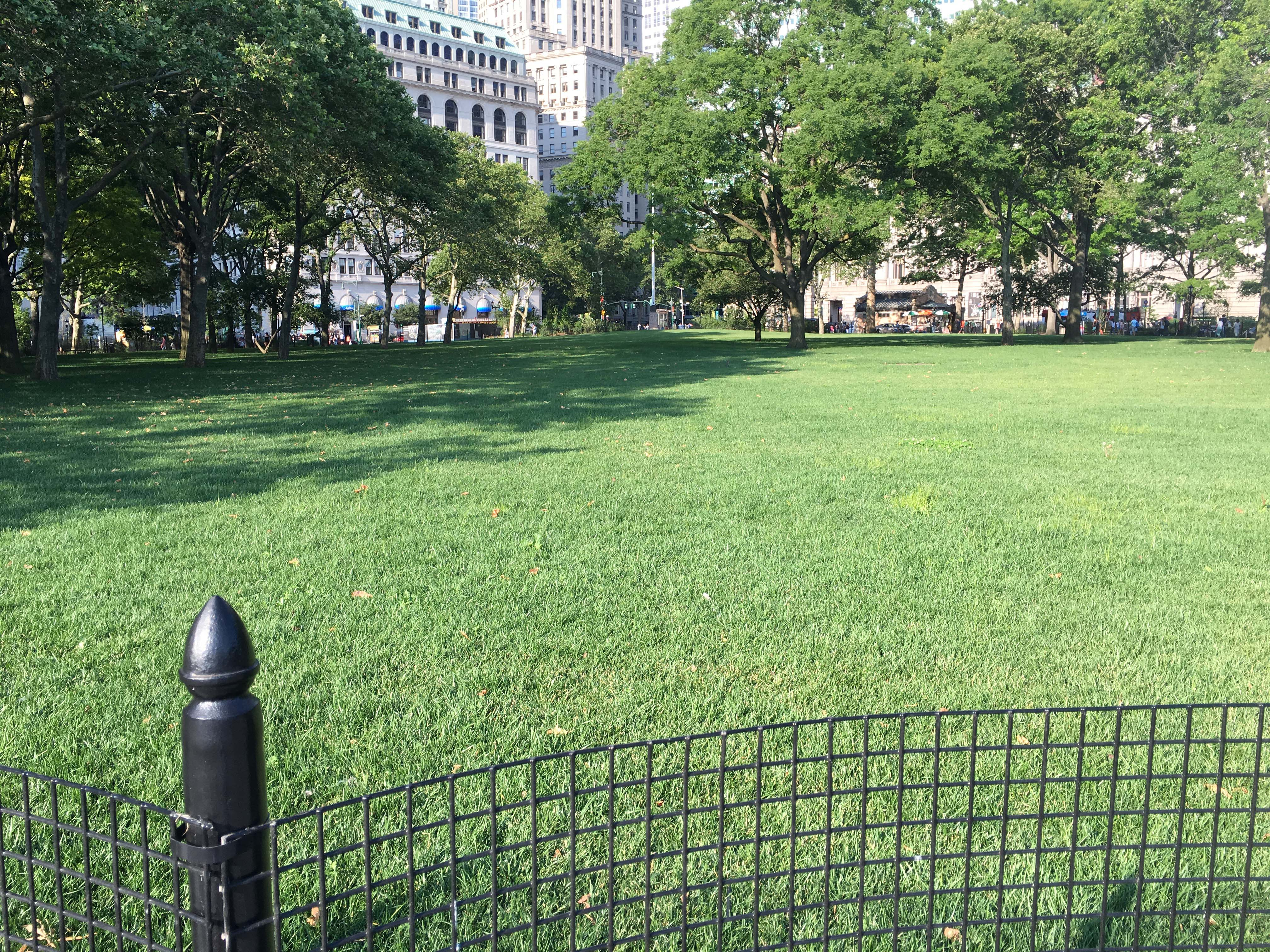 The Battery Lawn still closed 6-18-2016