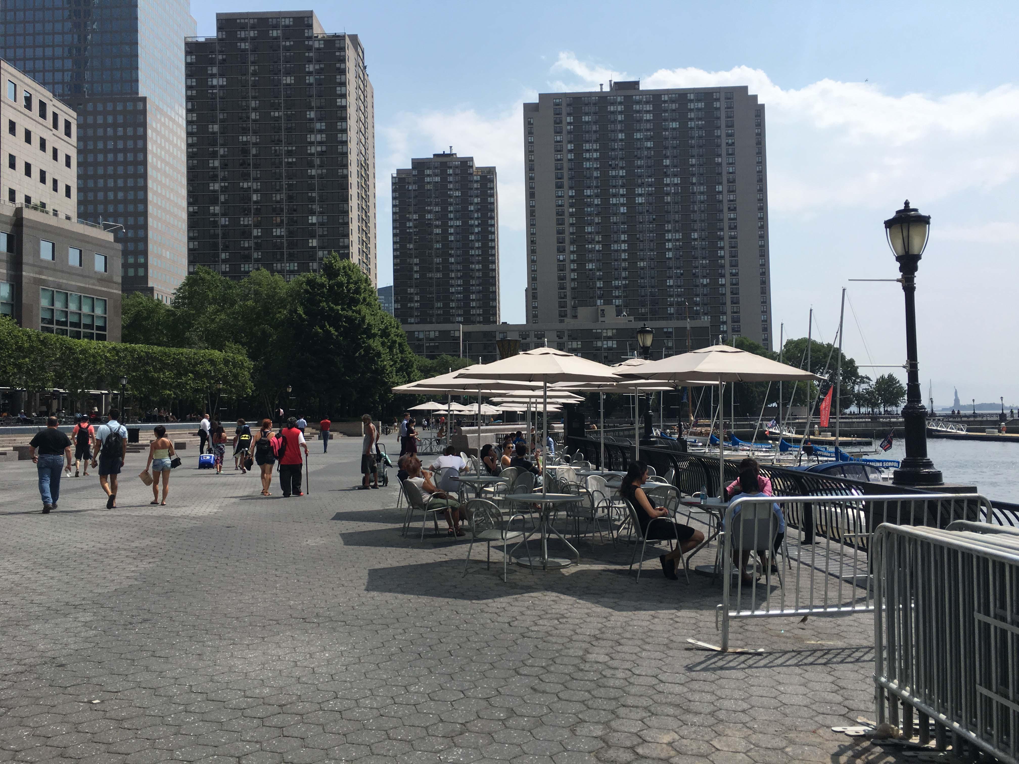 Marina esplanade now with brookfield umbrellas B
