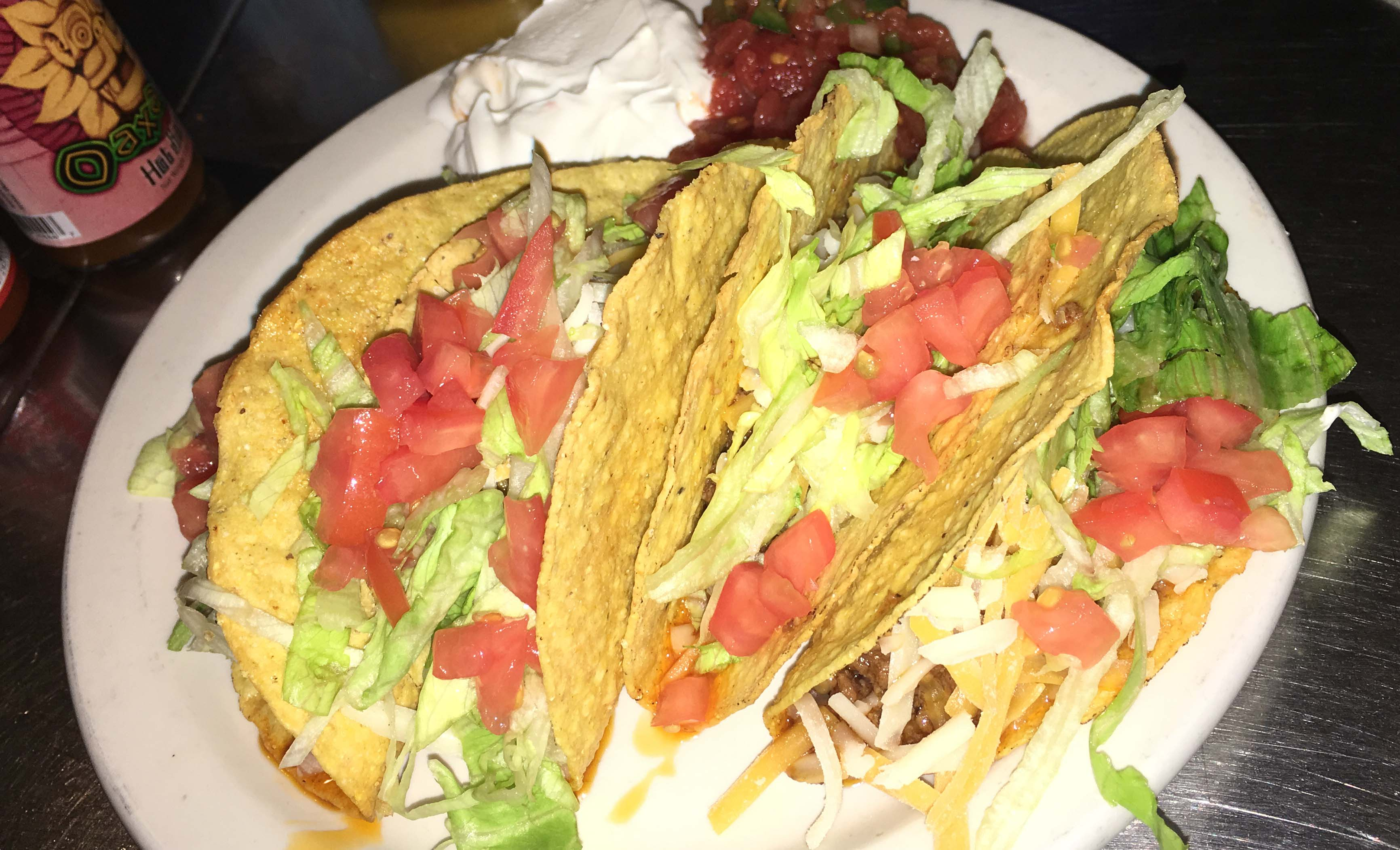 Press grill crunchy tacos