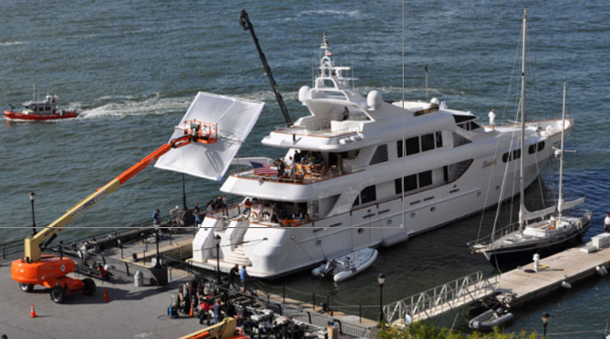 filming wolf of wall street in north cove marina