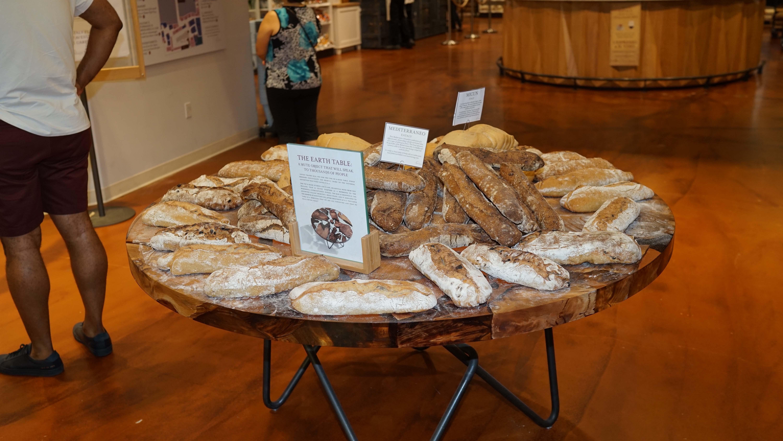 Eataly bread table